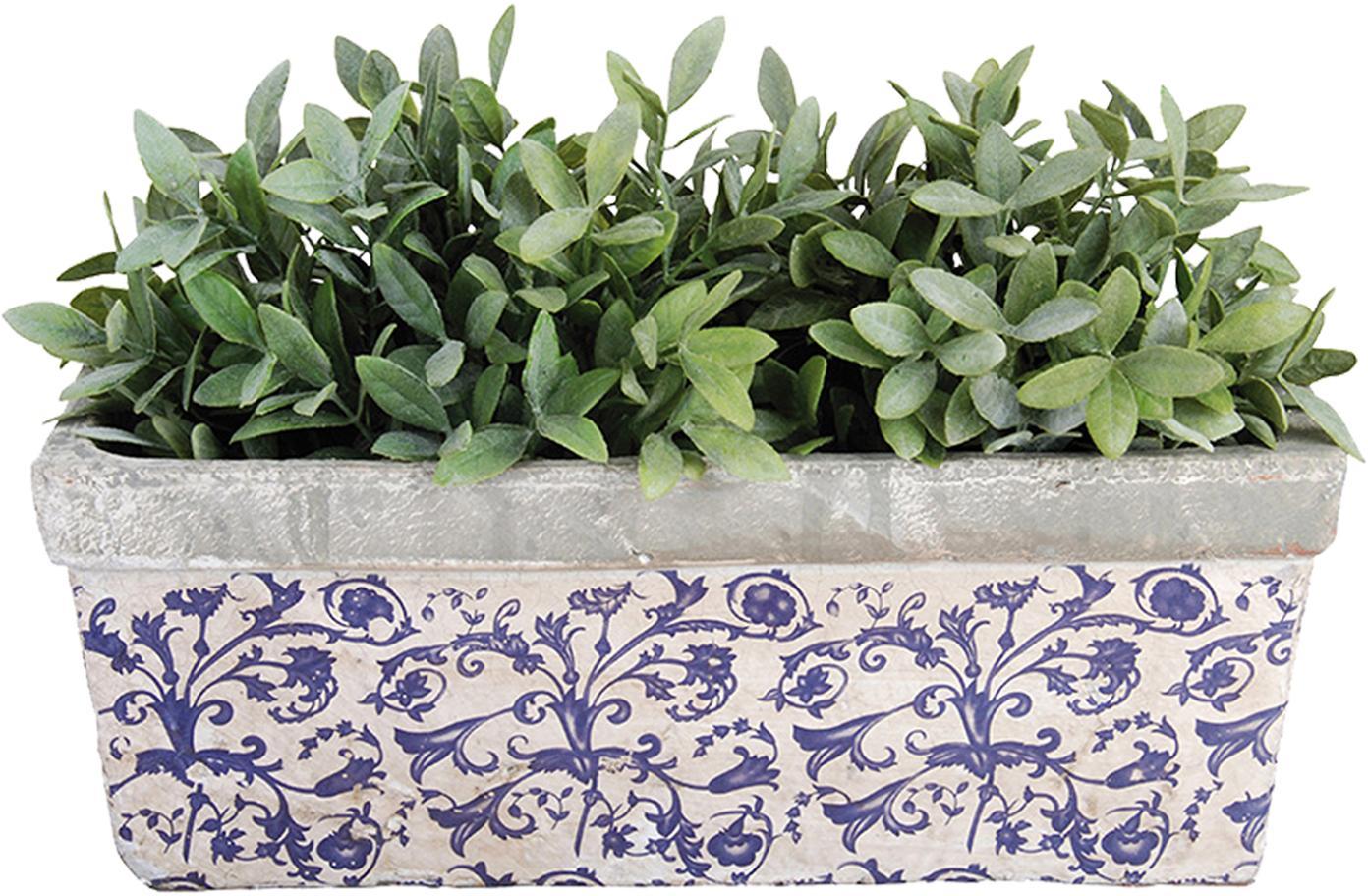 Macetero Adela, Cerámica, Azul, gris, blanco crudo, An 40 x Al 15 cm
