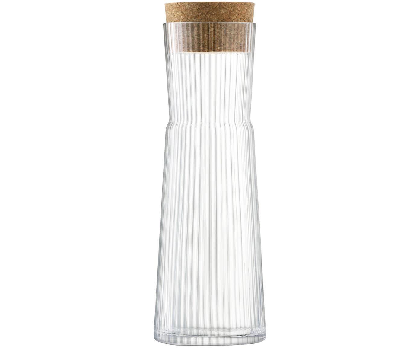 Karafka Gio Line, Transparentny, korek, Ø 10 x W 30 cm