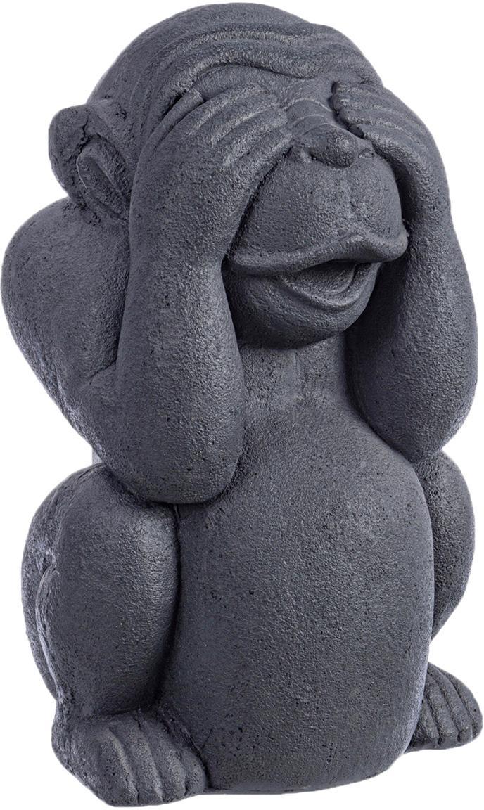 Decoratief object Monkey, Gecoat beton, Antraciet, 22 x 36 cm