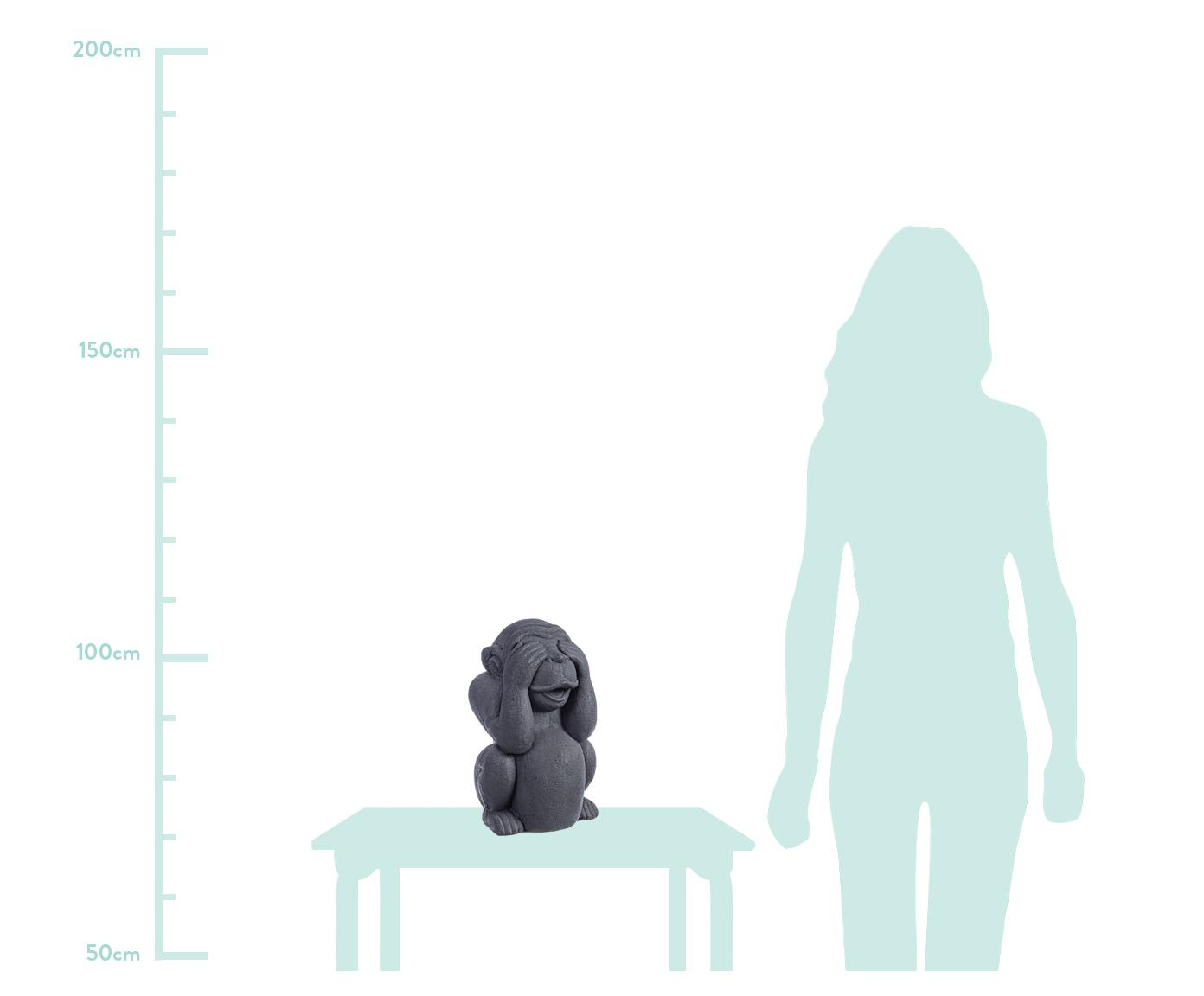 Oggetto decorativo Monkey, Cemento, rivestito, Antracite, Larg. 22 x Alt. 36 cm