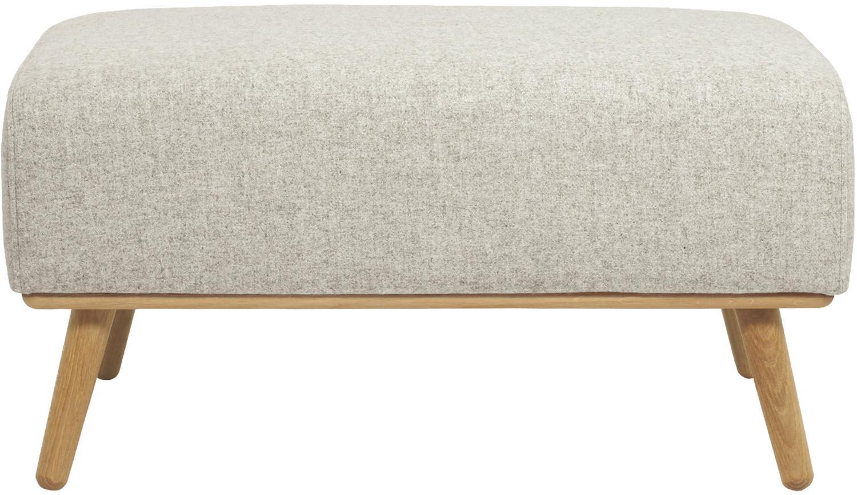 Taburete Archie, Tapizado: 100%lana 30.000ciclos , Estructura: madera de pino, Patas: roble, aceitado, Beige, dorado, An 87 x Al 45 cm