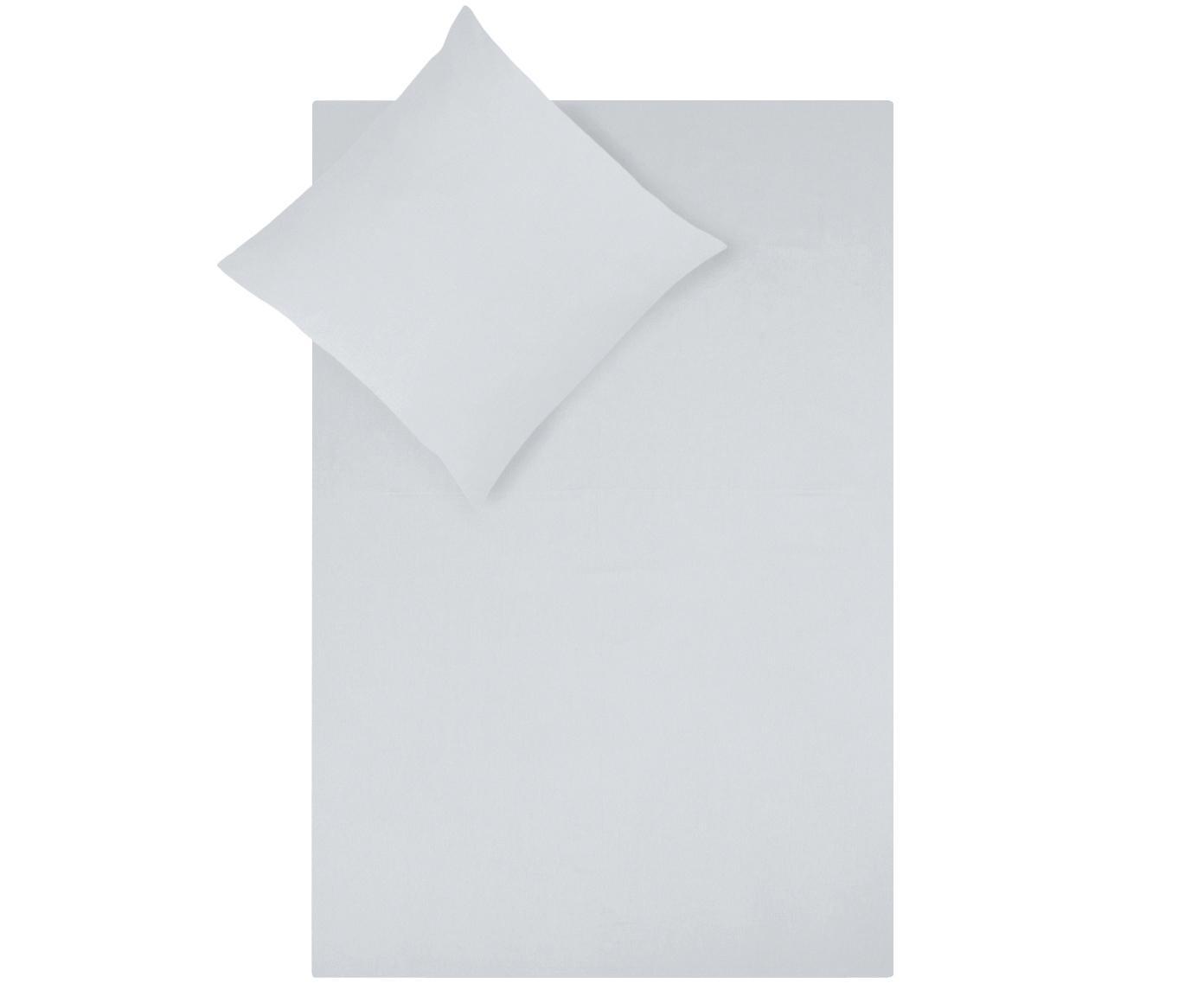 Baumwollsatin-Bettwäsche Comfort in Hellgrau, Webart: Satin Fadendichte 250 TC,, Hellgrau, 135 x 200 cm + 1 Kissen 80 x 80 cm