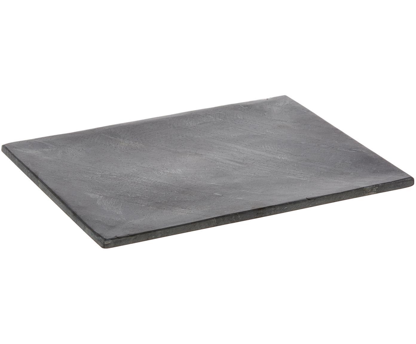 Piatto da portata in granito Klevina, Granite, Grigio, Larg. 28 x Alt. 2 cm
