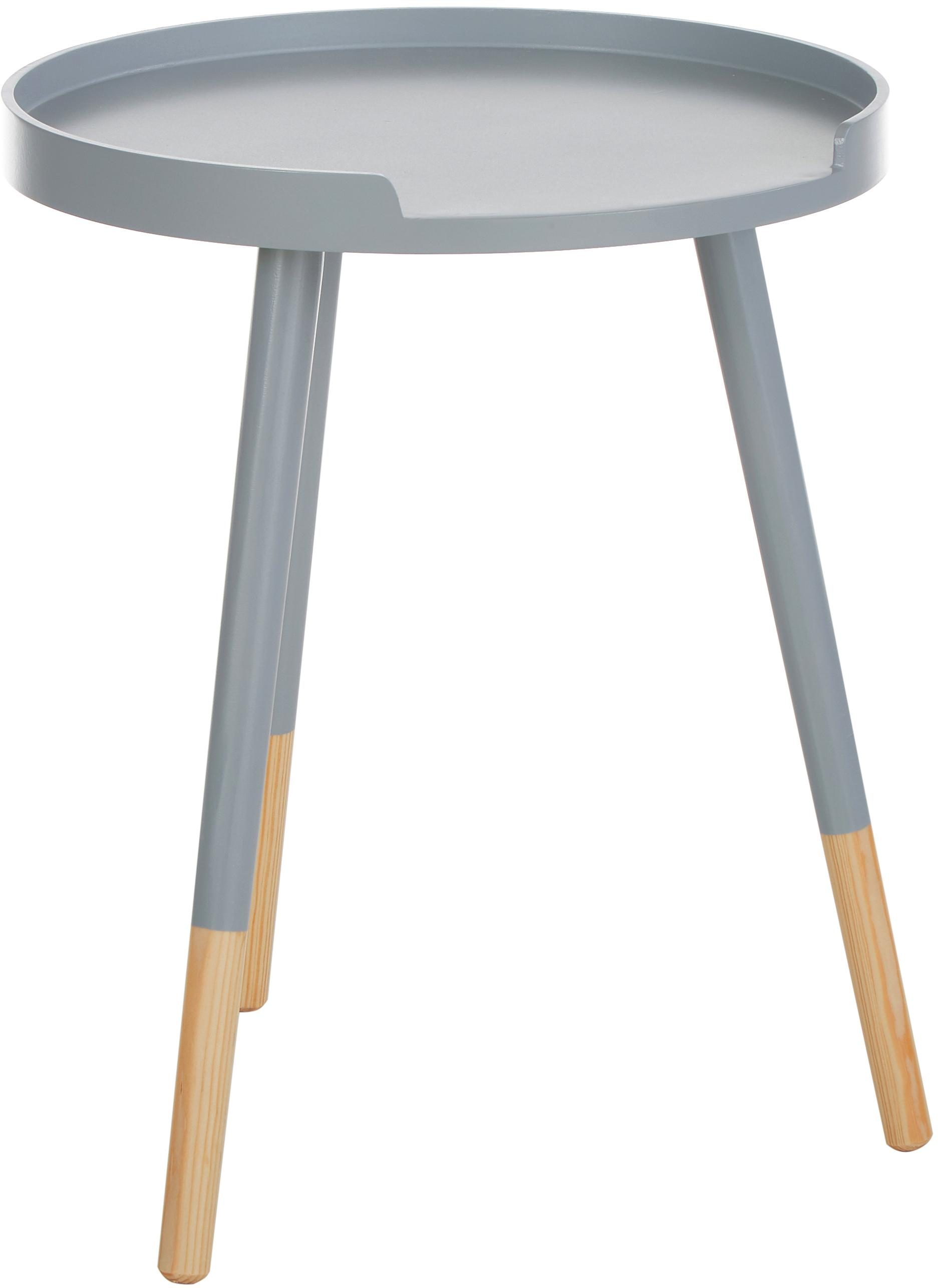 Ronde bijzettafel Ralph, Grijs, beige, Ø 40 x H 49 cm