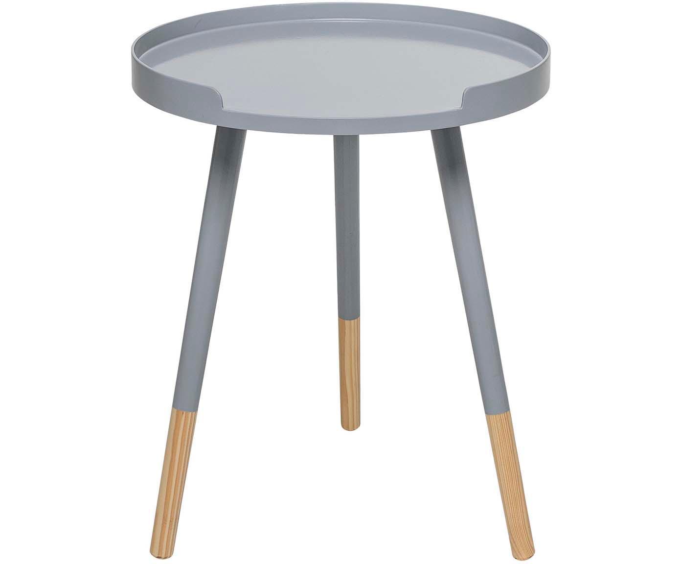 Tavolino rotondo Ralph, Grigio, beige, Ø 40 x Alt. 49 cm