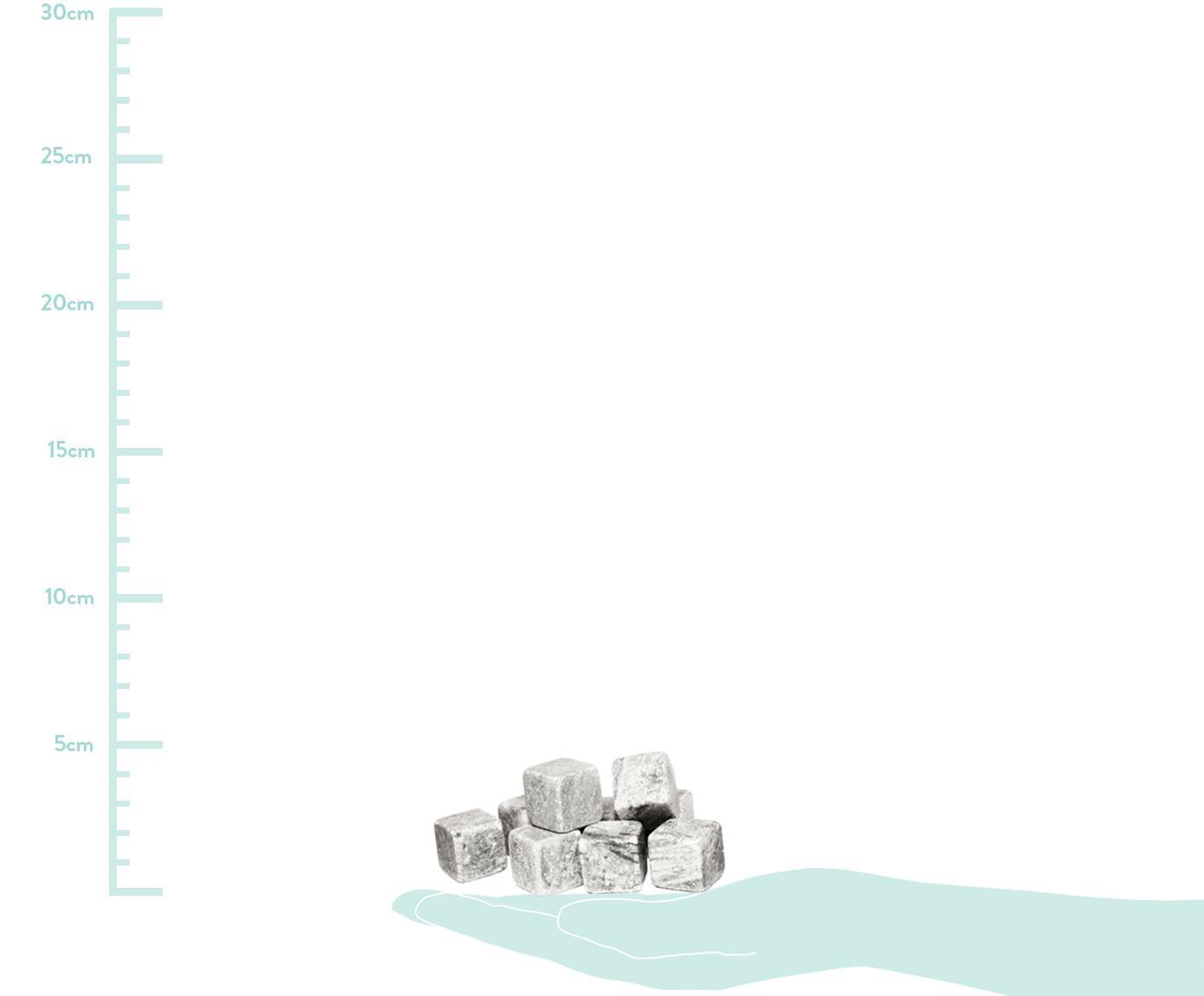 Whiskey-Steine-Set Rocking, 9-tlg., Steine: Speckstein, Grau, 2 x 2 cm