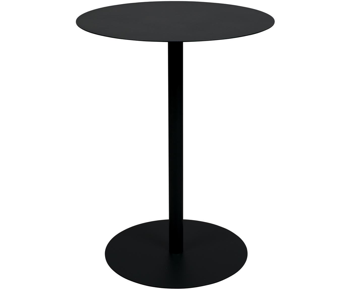 Runder Bistro-Tisch Snow aus Metall, Metall, pulverbeschichtet, Schwarz, Ø 57 x H 75 cm