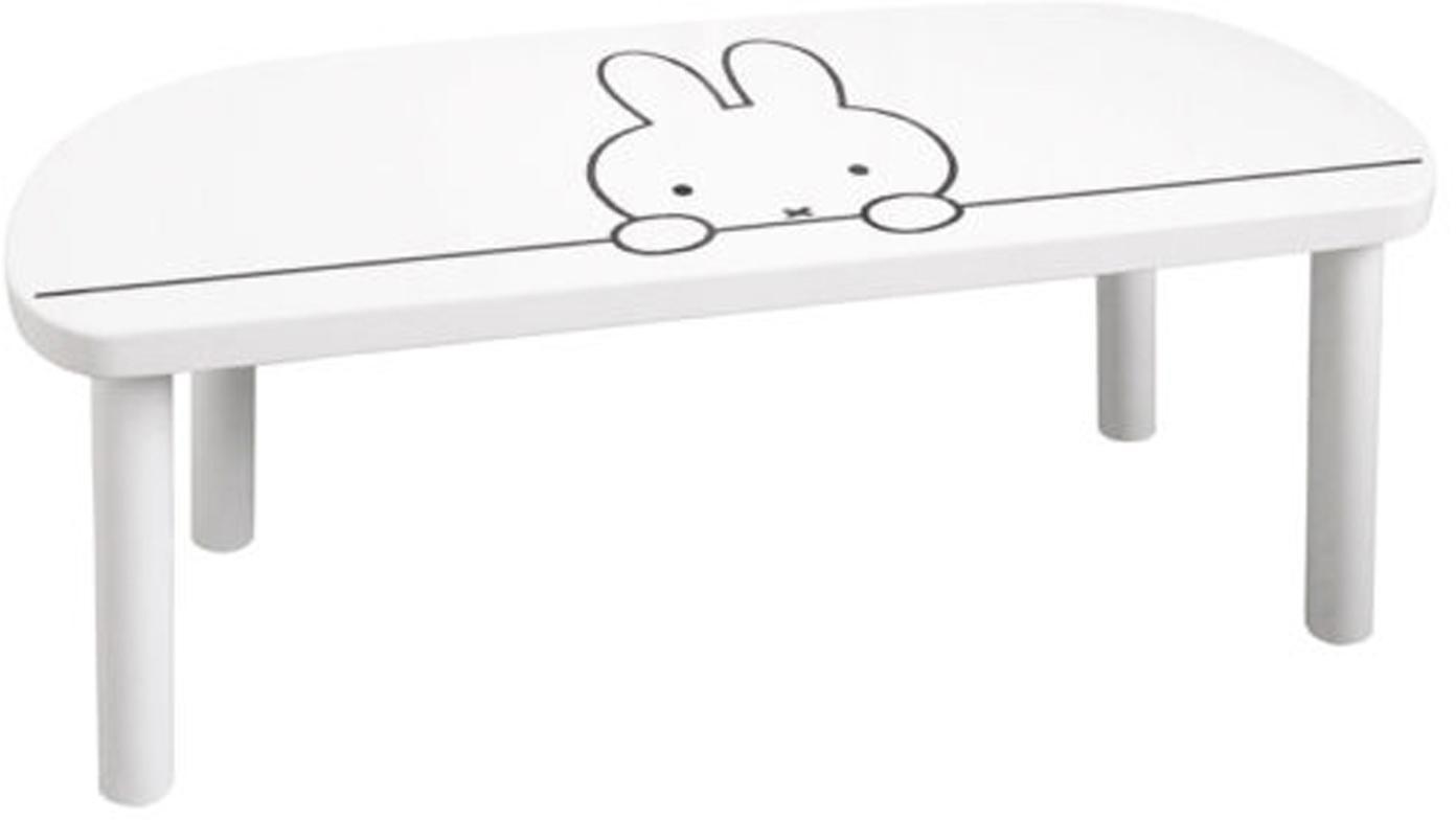 Kinderbank Miffy, Sitzfläche: Mitteldichte Holzfaserpla, Beine: Kiefernholz, Weiss, Schwarz, 64 x 25 cm