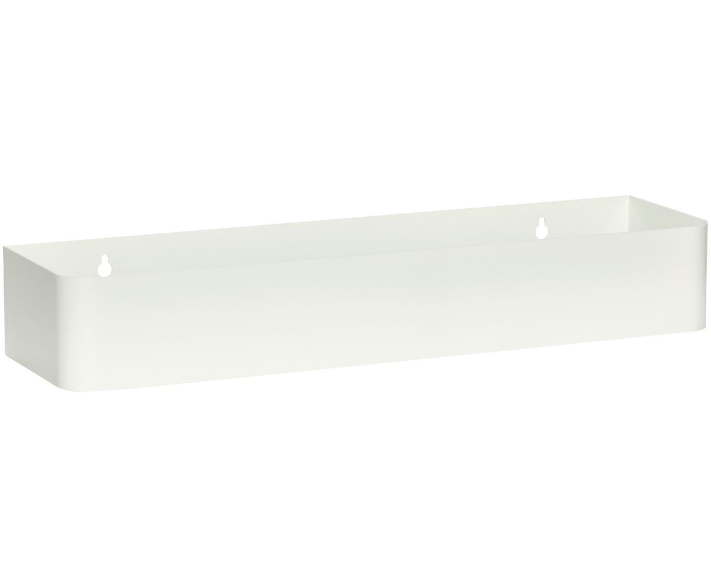 Mensola a muro in metallo Shelf, Metallo rivestito, Bianco, Larg. 45 x Alt. 7 cm