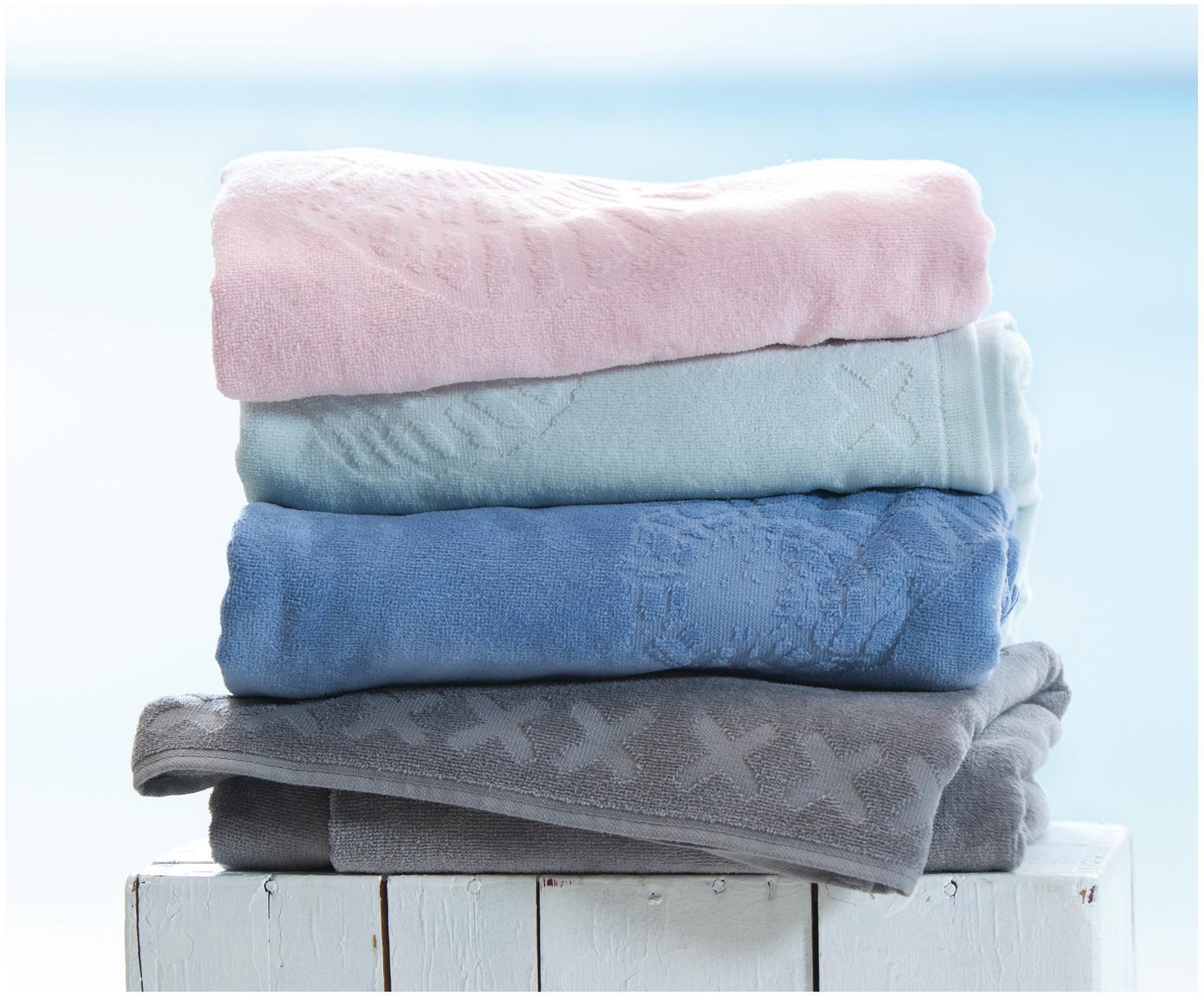 Ręcznik plażowy Shells, Blady różowy, S 100 x D 200 cm