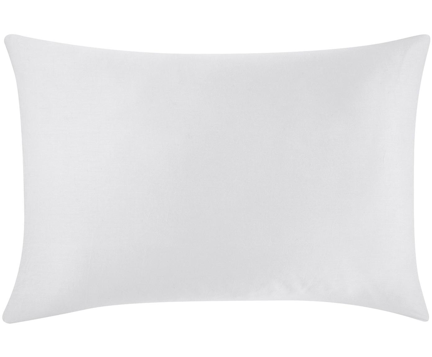 Funda de almohada de satén Comfort, Gris claro, An 50 x L 70 cm