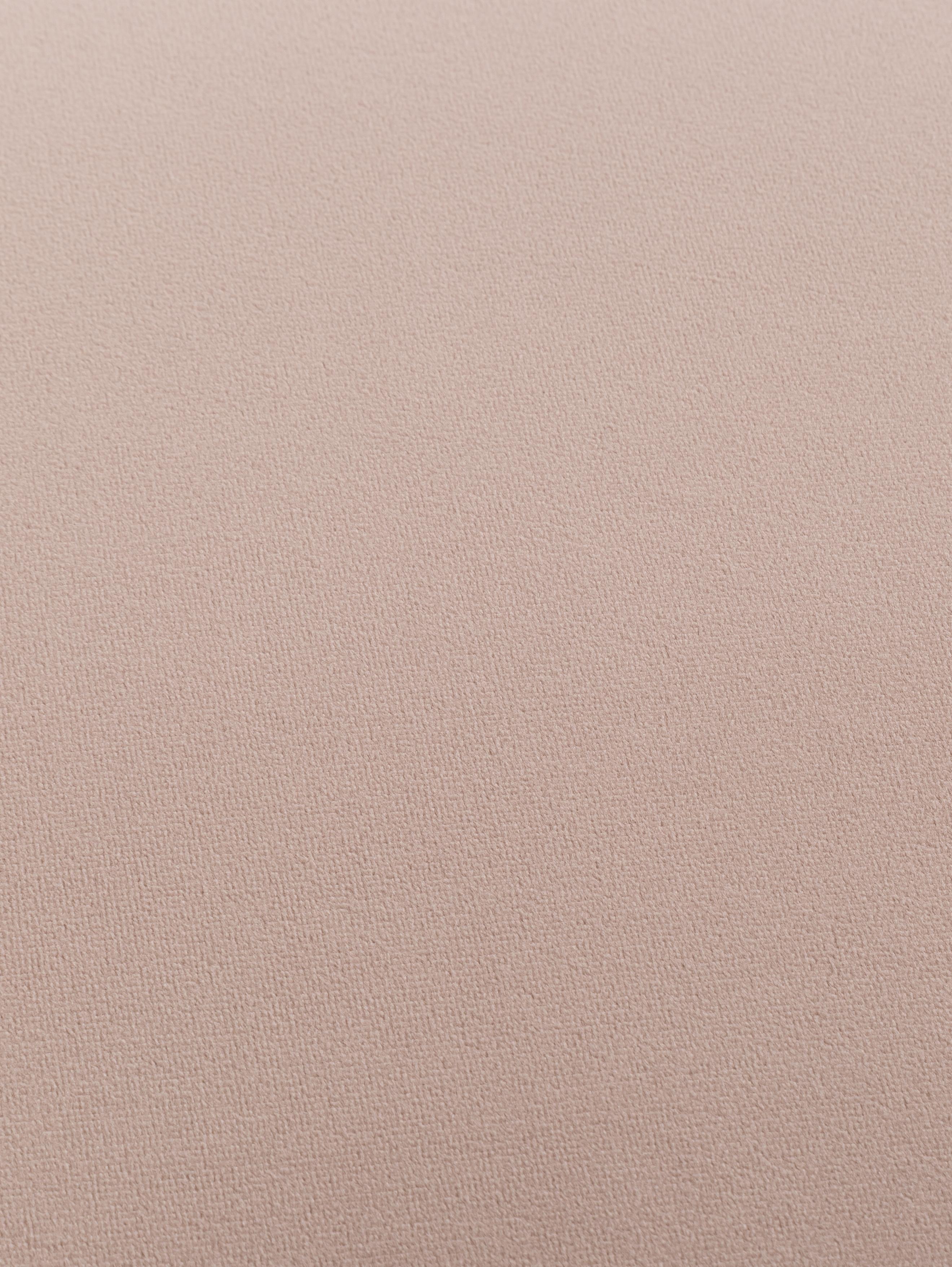 Samt-Polsterbank Popy, Bezug: Polyestersamt 50.000 Sche, Beine: Gummibaumholz, klar lacki, Altrosa, 100 x 50 cm