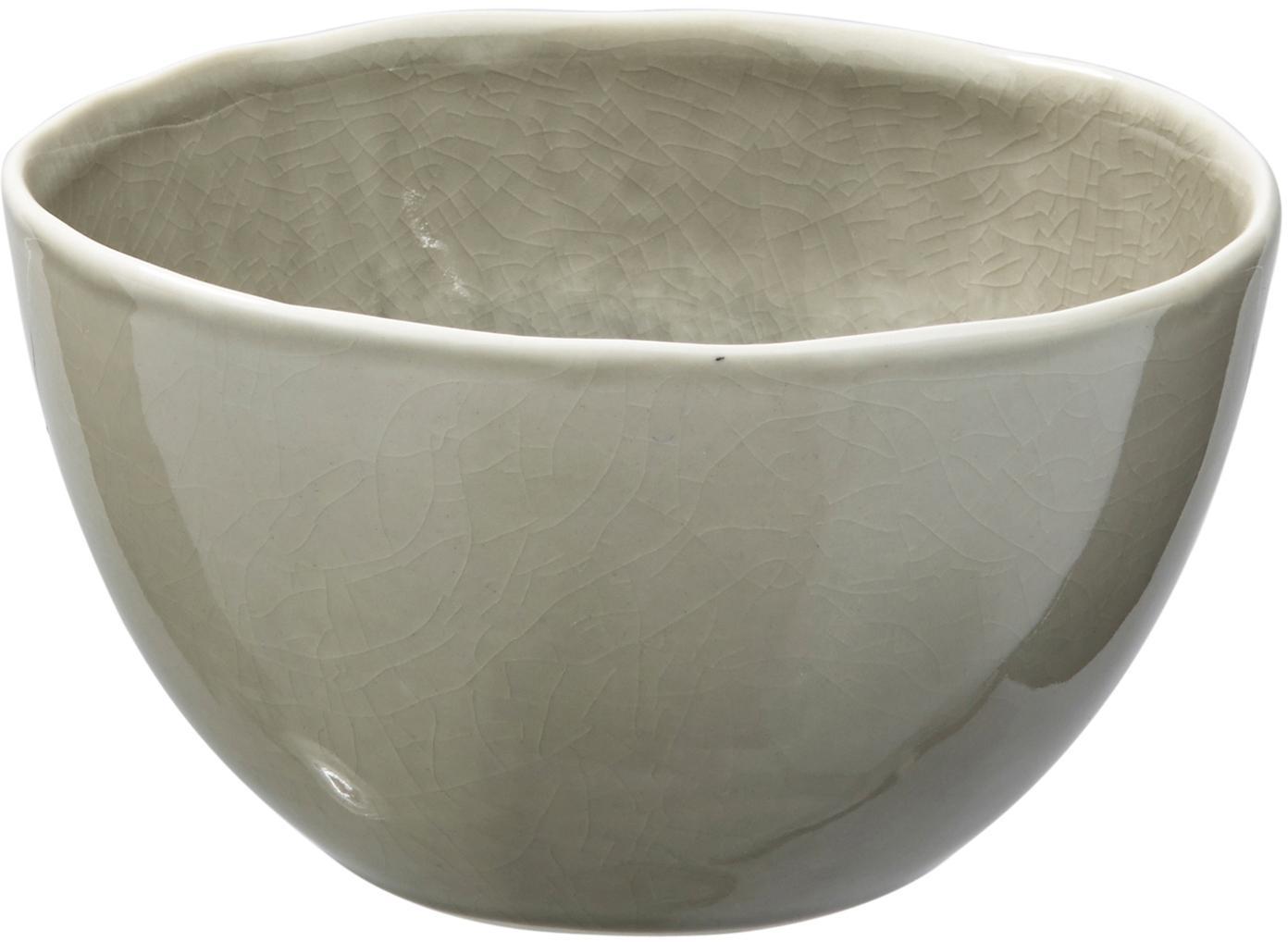 Schalen Porcelino Sea, 6 stuks, Porselein, Grijsgroen, beige, Ø 14 x H 8 cm