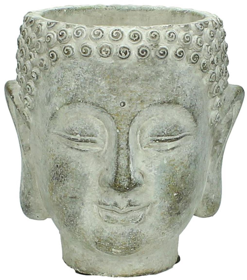 Übertopf Head aus Beton, Beton, Grau, 13 x 14 cm