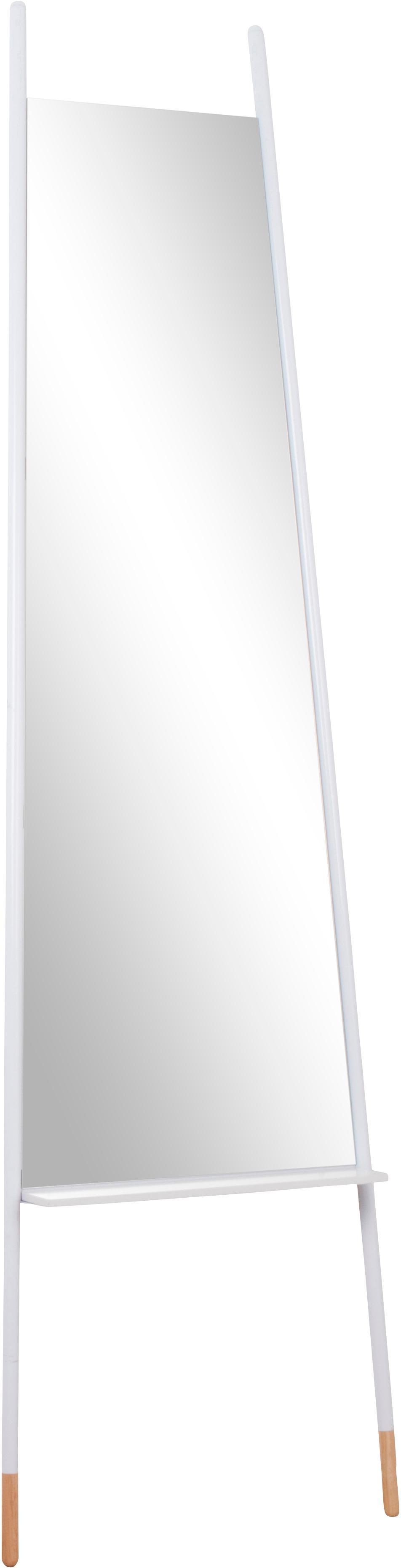 Espejo de pie Leaning Mirror, con estante, Espejo: cristal, Blanco, espejo, An 48 x Al 171cm