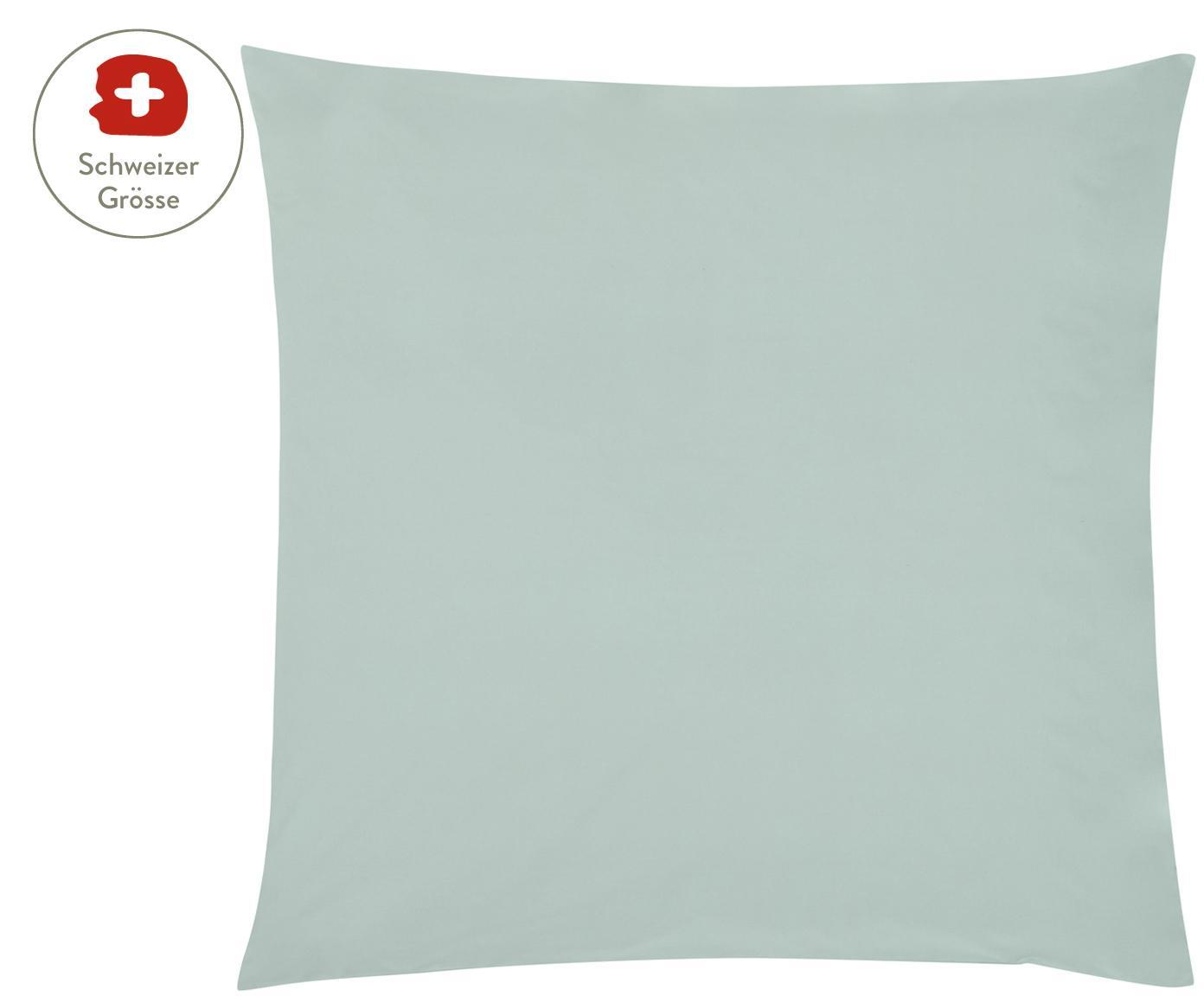 Baumwollperkal-Kissenbezug Elsie in Salbeigrün, Webart: Perkal Fadendichte 200 TC, Salbeigrün, 65 x 65 cm