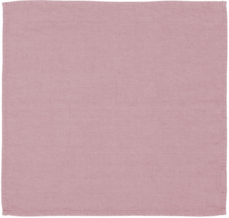 Tovagliolo in lino Ruta 6 pz, Chiaro lilla, Larg. 43 x Lung. 43 cm