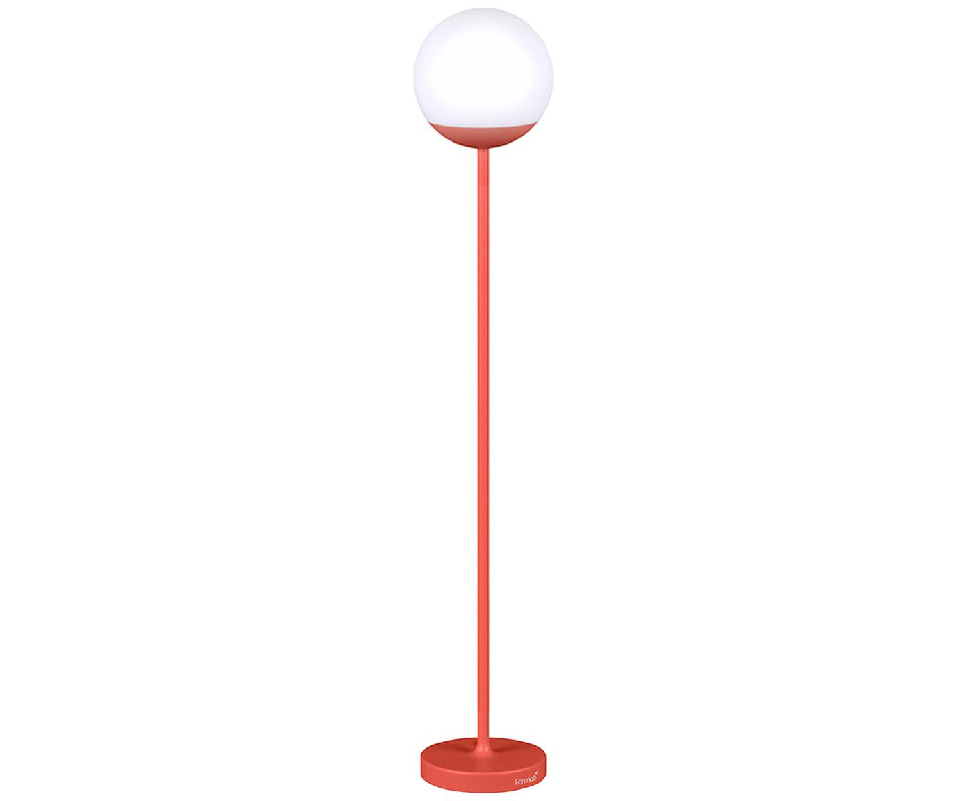 Mobile LED Aussenleuchte Mooon, Lampenschirm: Kunststoff, Rot, Ø 25 x H 134 cm