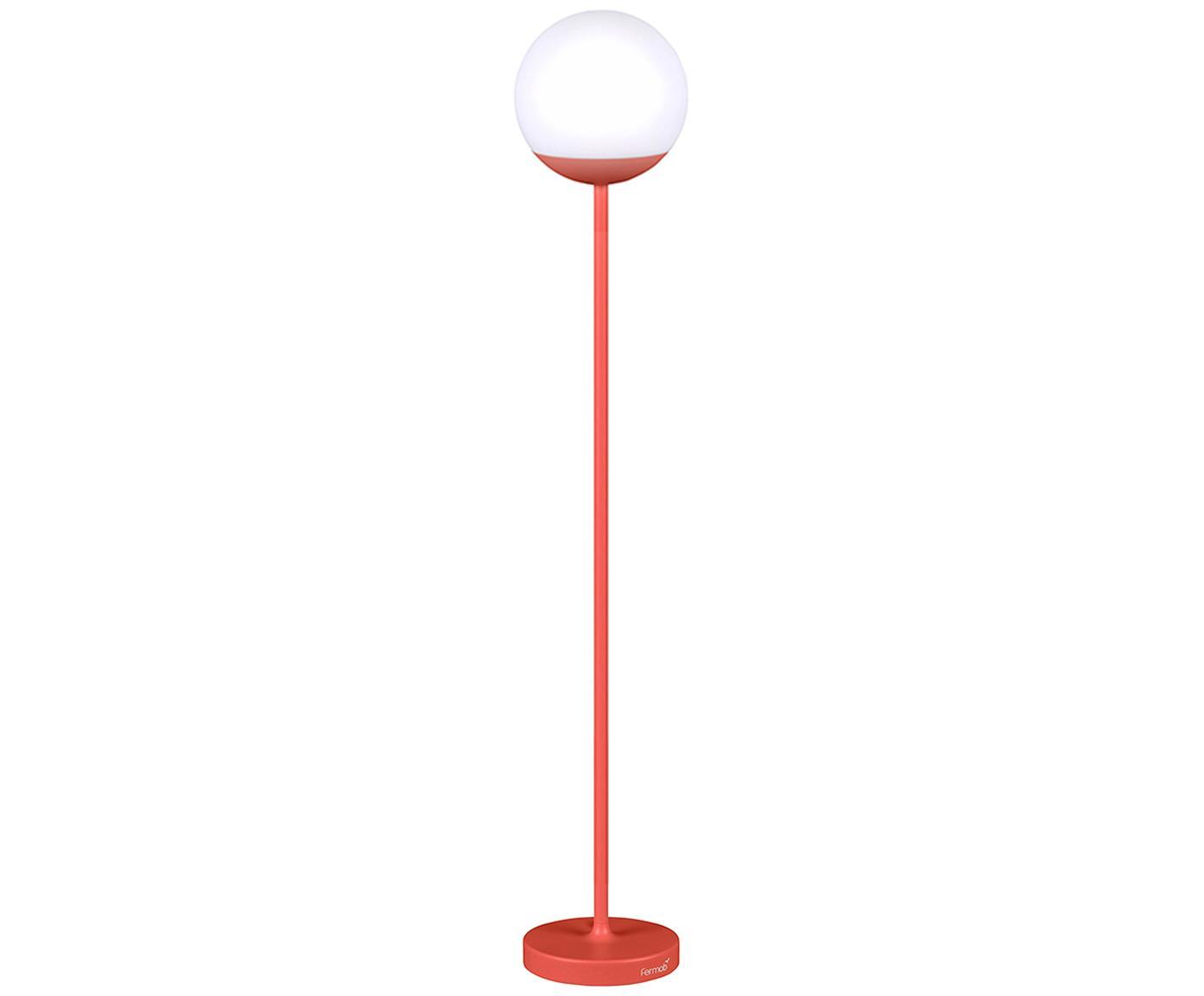 Zewnętrzna lampa mobilna LED Mooon, Czerwony, Ø 25 x W 134 cm