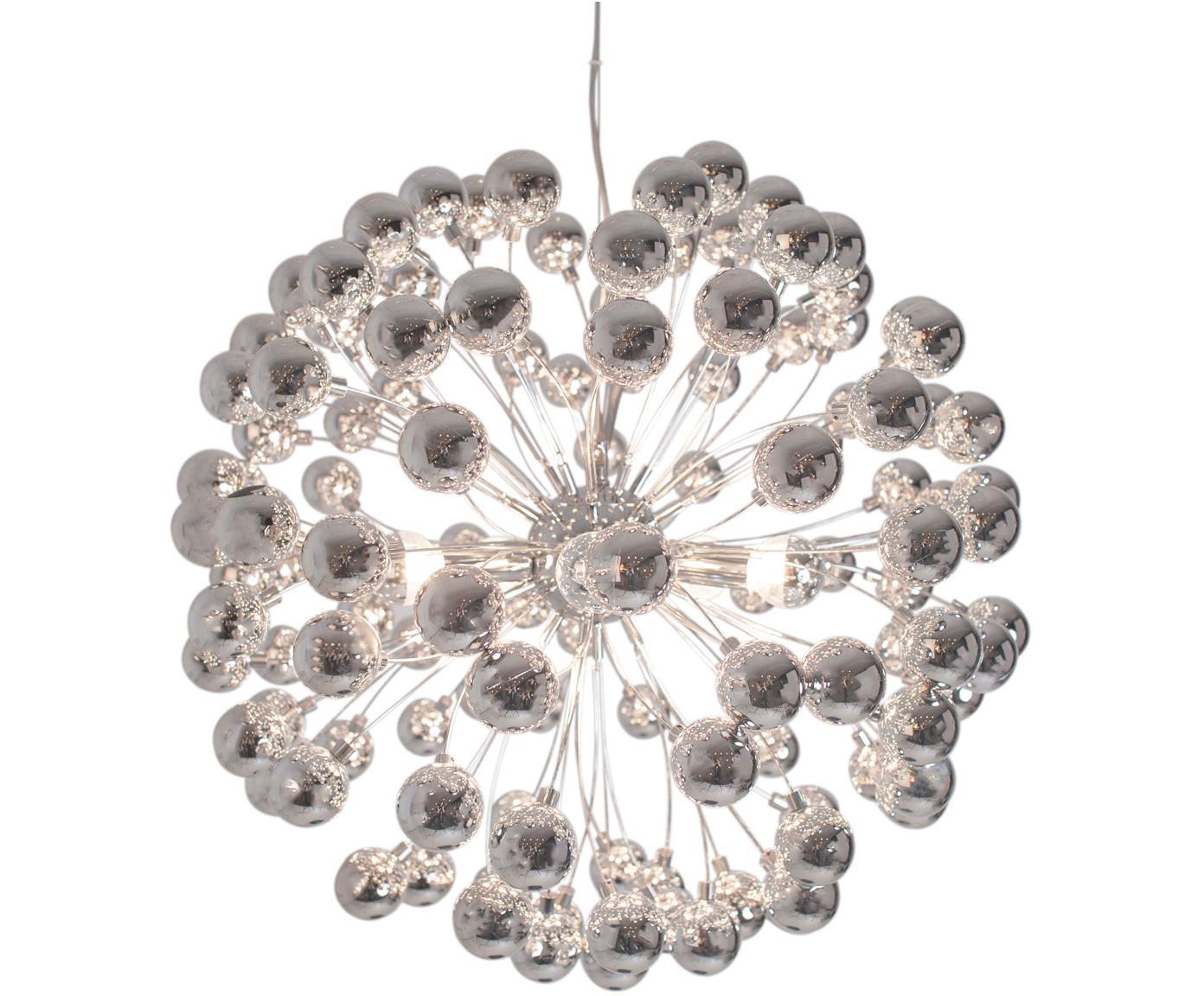 Lámpara de techo Carroll, Lámpara: plástico, cromado, Cable: plástico, Cromo, Ø 58 x Al 55 cm