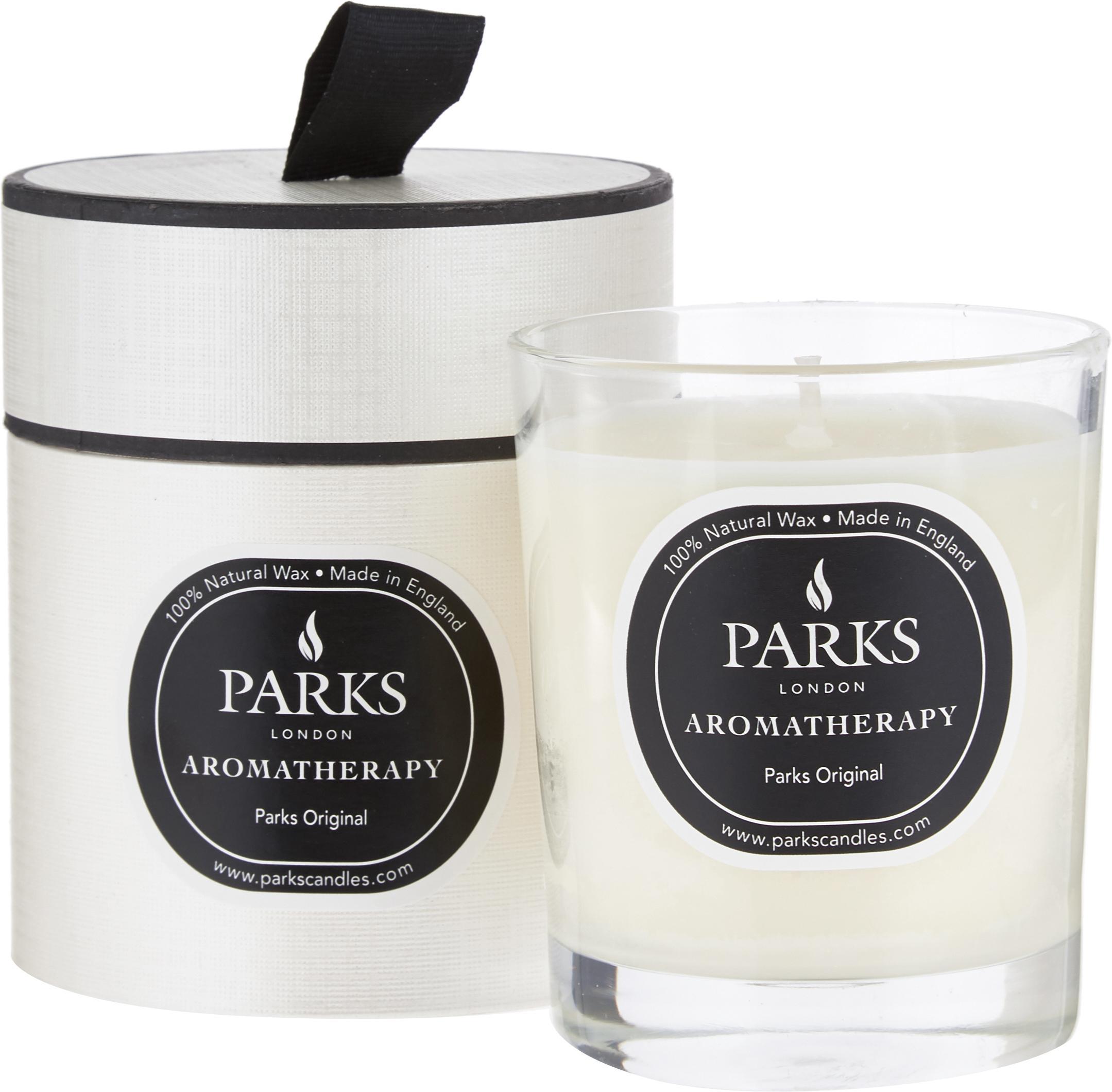 Świeca zapachowa Parks Original (wanilia i cytrusy), Biały, czarny, W 9 x Ø 8 cm