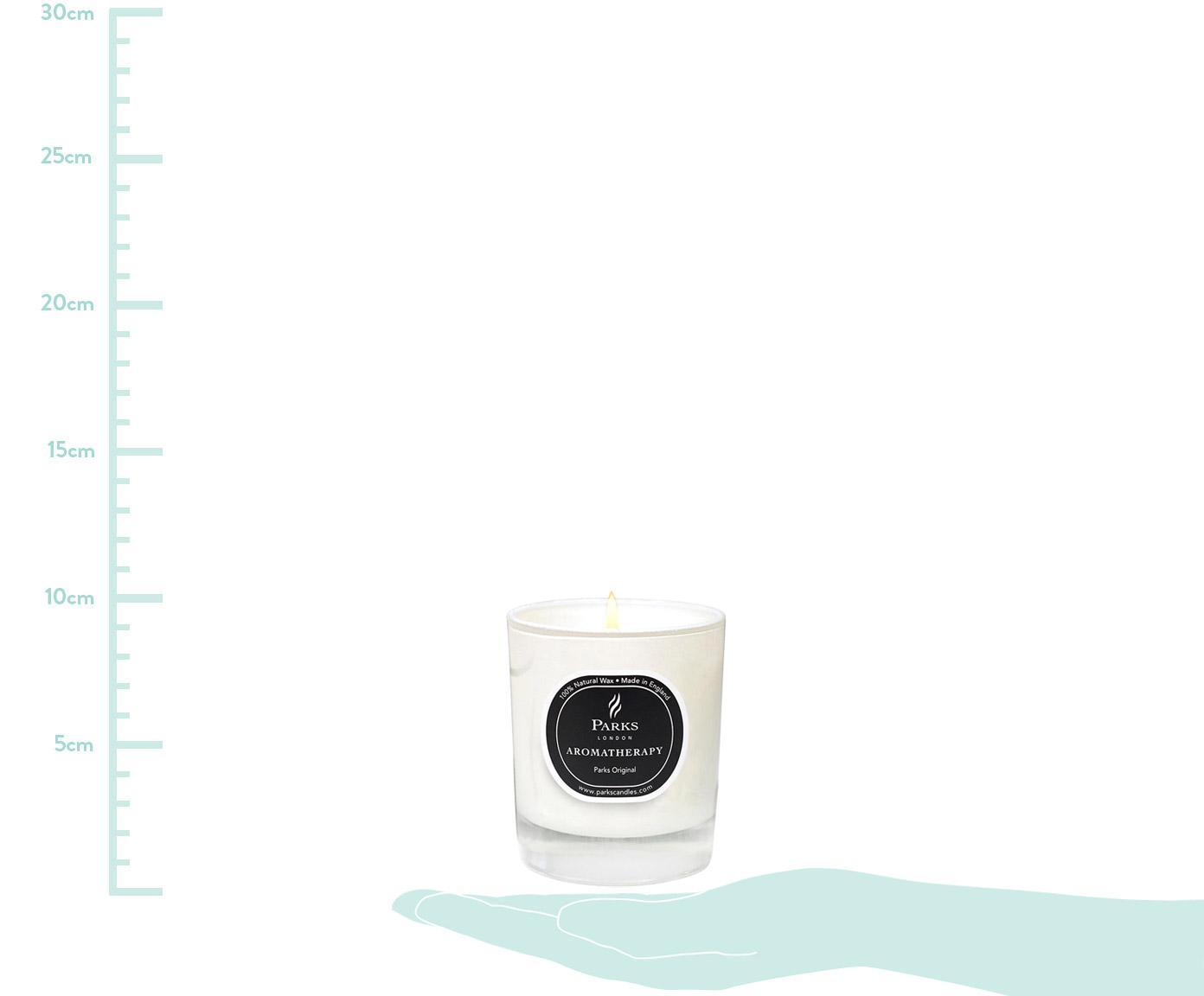 Vela perfumada Parks Original (vanilla & frutas cítricas), Recipiente: cristal, Blanco, negro, Al 9 x Ø 8 cm