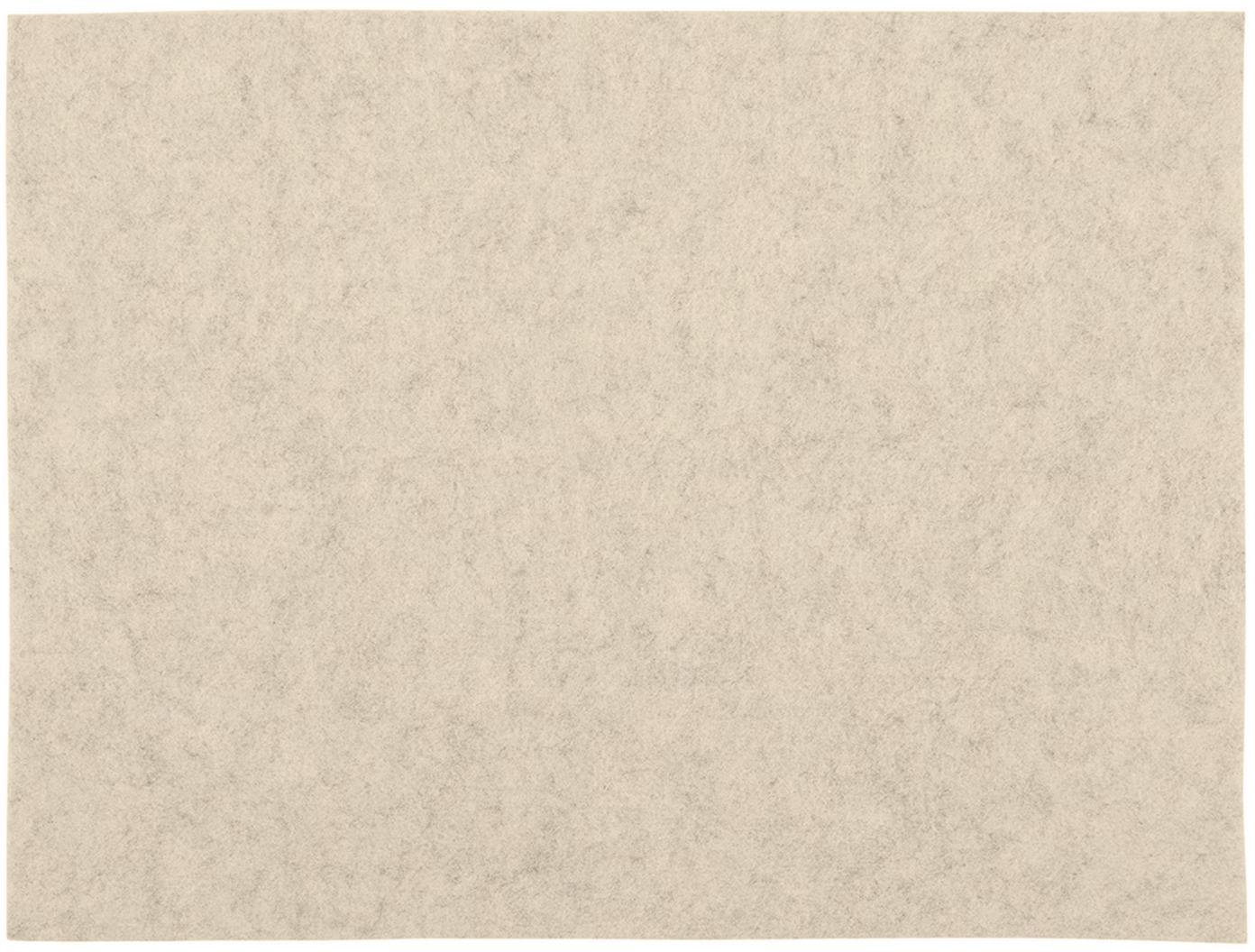 Tovaglietta americana in feltro Felto 2 pz, Feltro (poliestere), Crema, Larg. 33 x Lung. 45 cm