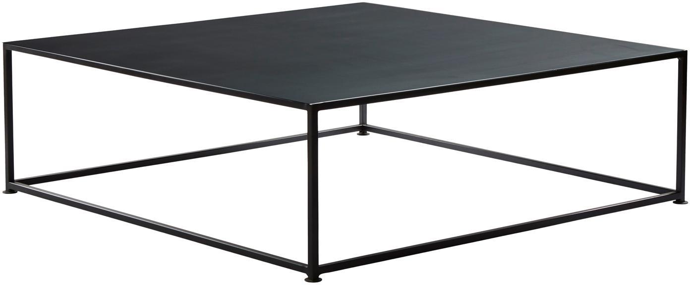 Tavolino da salotto nero Tikota, Metallo verniciato a polvere, Nero, Larg. 100 x Prof. 100 cm