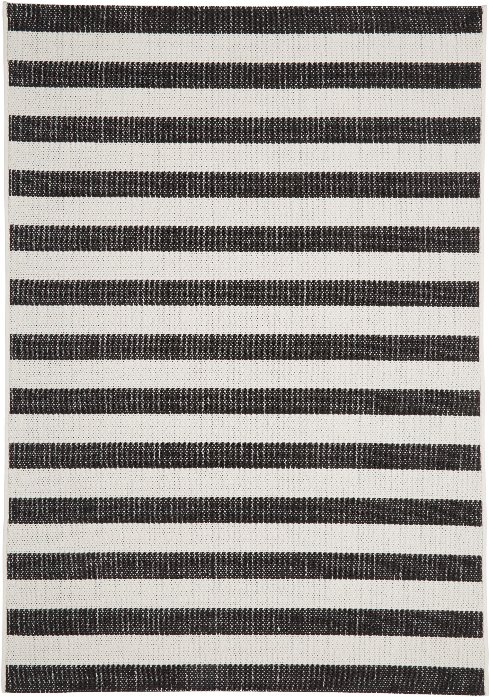 Dywan wewnętrzny/zewnętrzny Axa, Kremowobiały, czarny, S 200 x D 290 cm (Rozmiar L)
