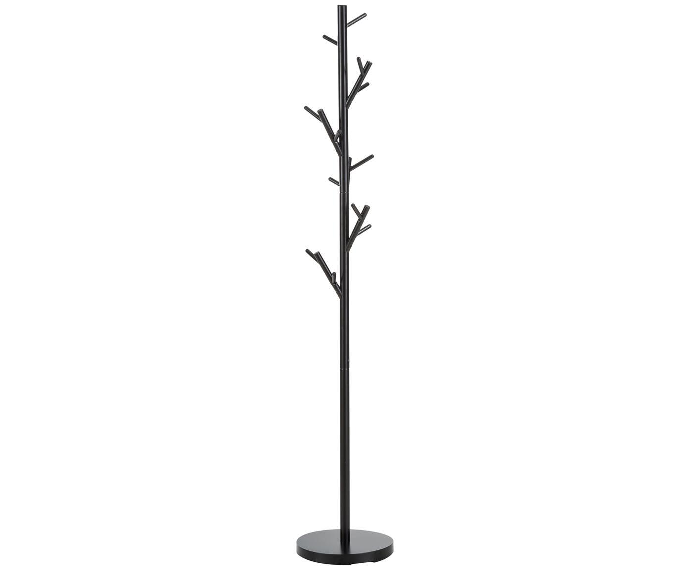 Appendiabiti Tree, Tubolare in acciaio, verniciato a polvere, Nero, Ø 28 x Alt. 170 cm