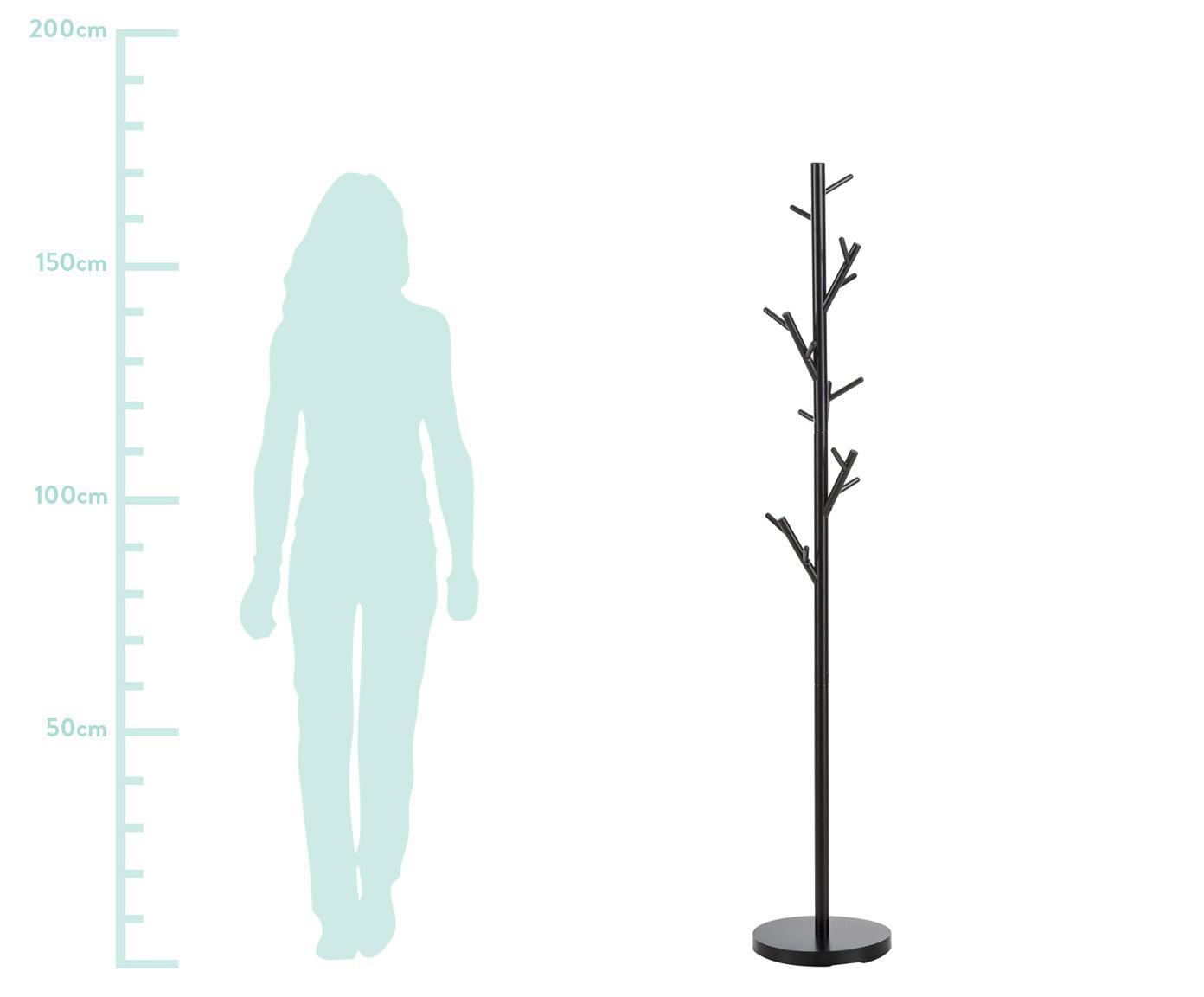 Kapstok Tree, Gepoedercoat staal, Zwart, Ø 28 x H 170 cm