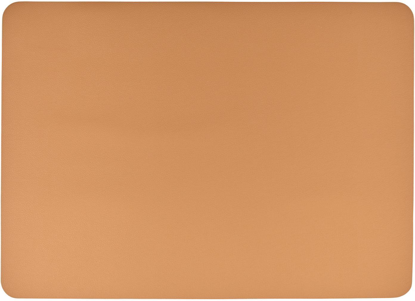 Kunstleder-Tischsets Pik, 2 Stück, Kunstleder (PVC), Karamell, 33 x 46 cm