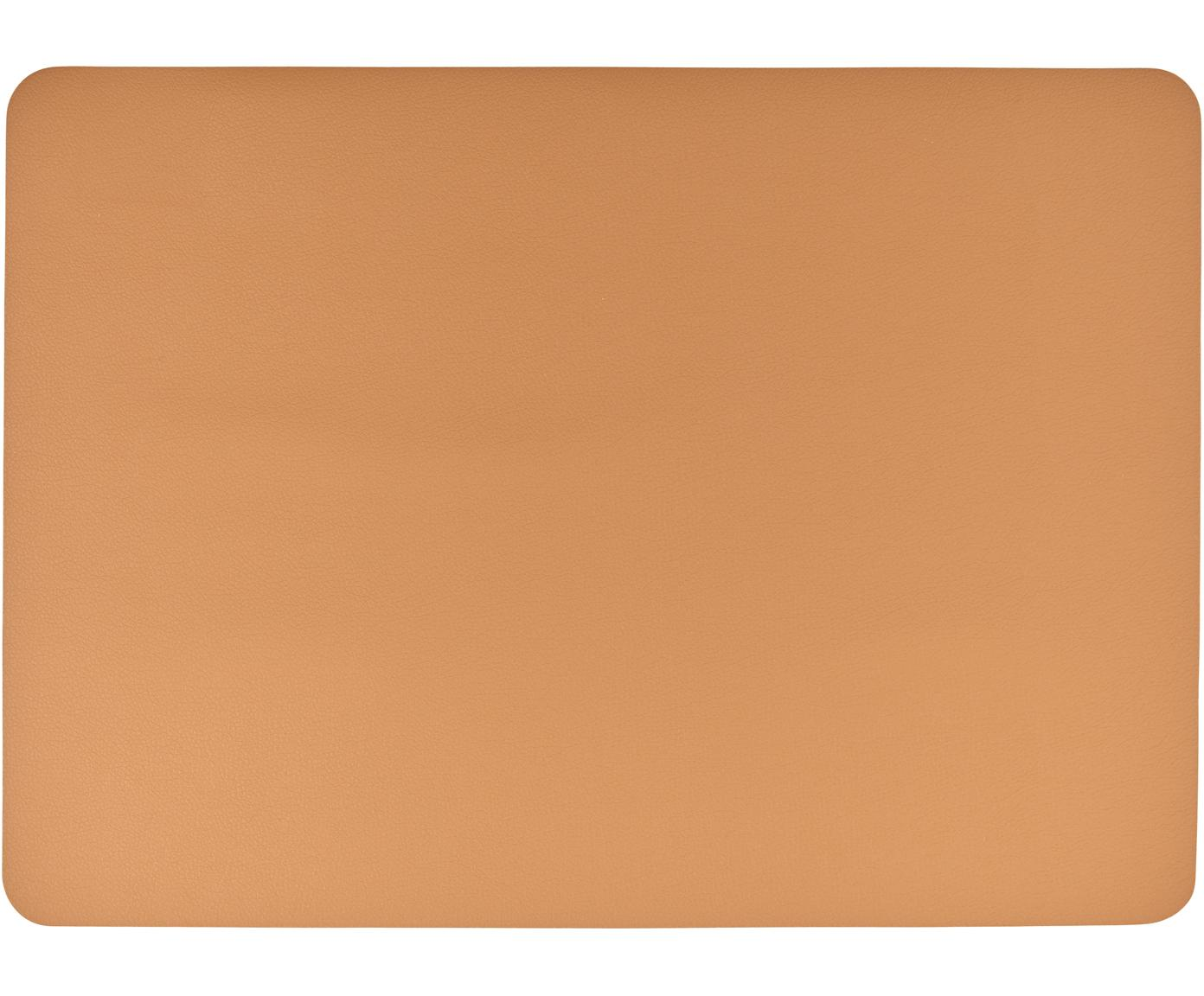 Tovaglietta americana in similpelle Pik 2 pz, Materiale sintetico (PVC), Caramello, Larg. 33 x Lung. 46 cm