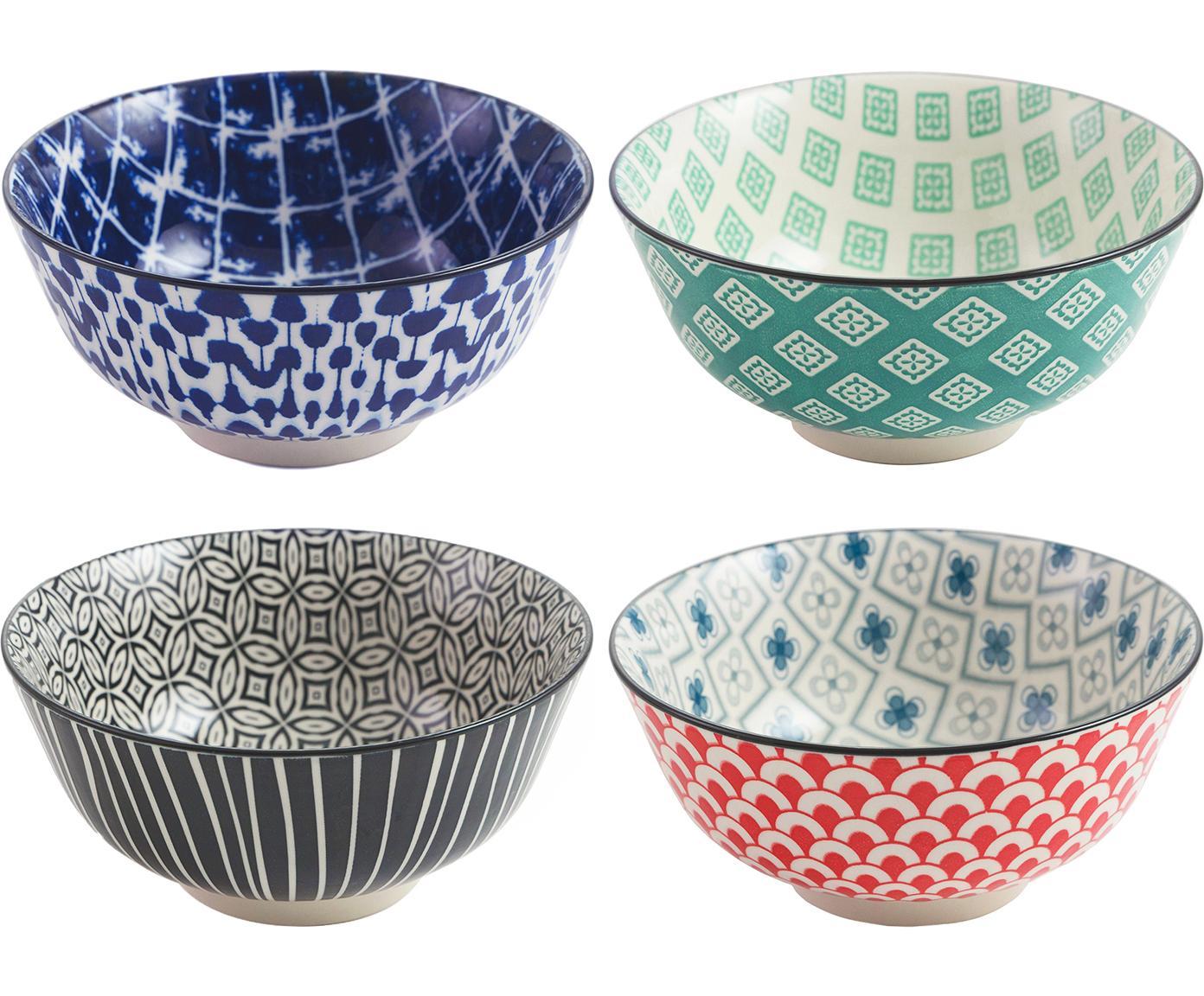 Set de boles Oriental, 4pzas., Gres, Multicolor, Ø 16 x Al 7 cm