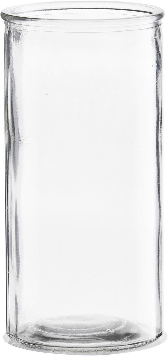 Jarrón de vidrio Cylinder, Vidrio, Transparente, Ø 10 x Al 20 cm