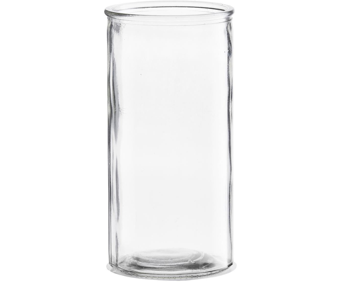 Kleine Glas-Vase Cylinder, Glas, Transparent, Ø 10 x H 20 cm