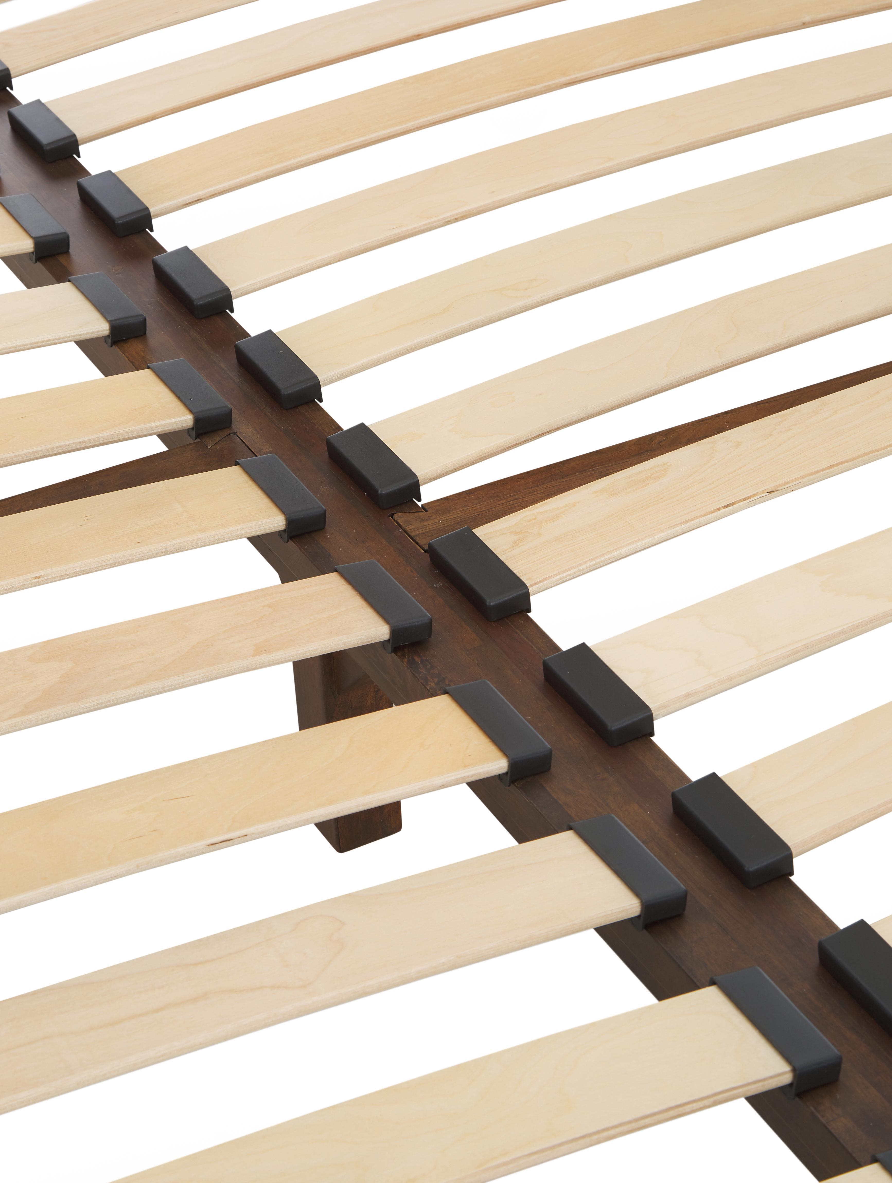 Himmelbett Retreat aus Holz, Mangoholz mit Furnierstücken aus Teakholz, Mahagoniholz, Mindiholz, Dunkelbrauntöne, 180 x 200 cm