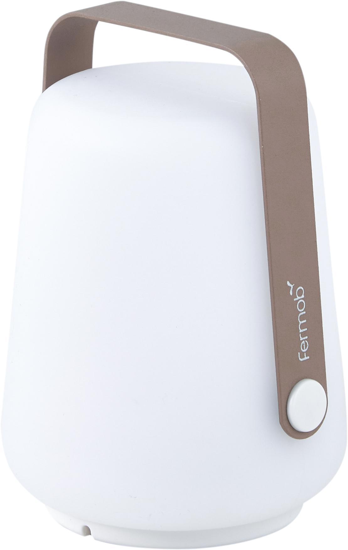 Lampada portatile a LED da esterno Balad 3 pz, Paralume: polietilene, Manico: alluminio verniciato, Marrone moscato, Ø 10 x Alt. 13 cm