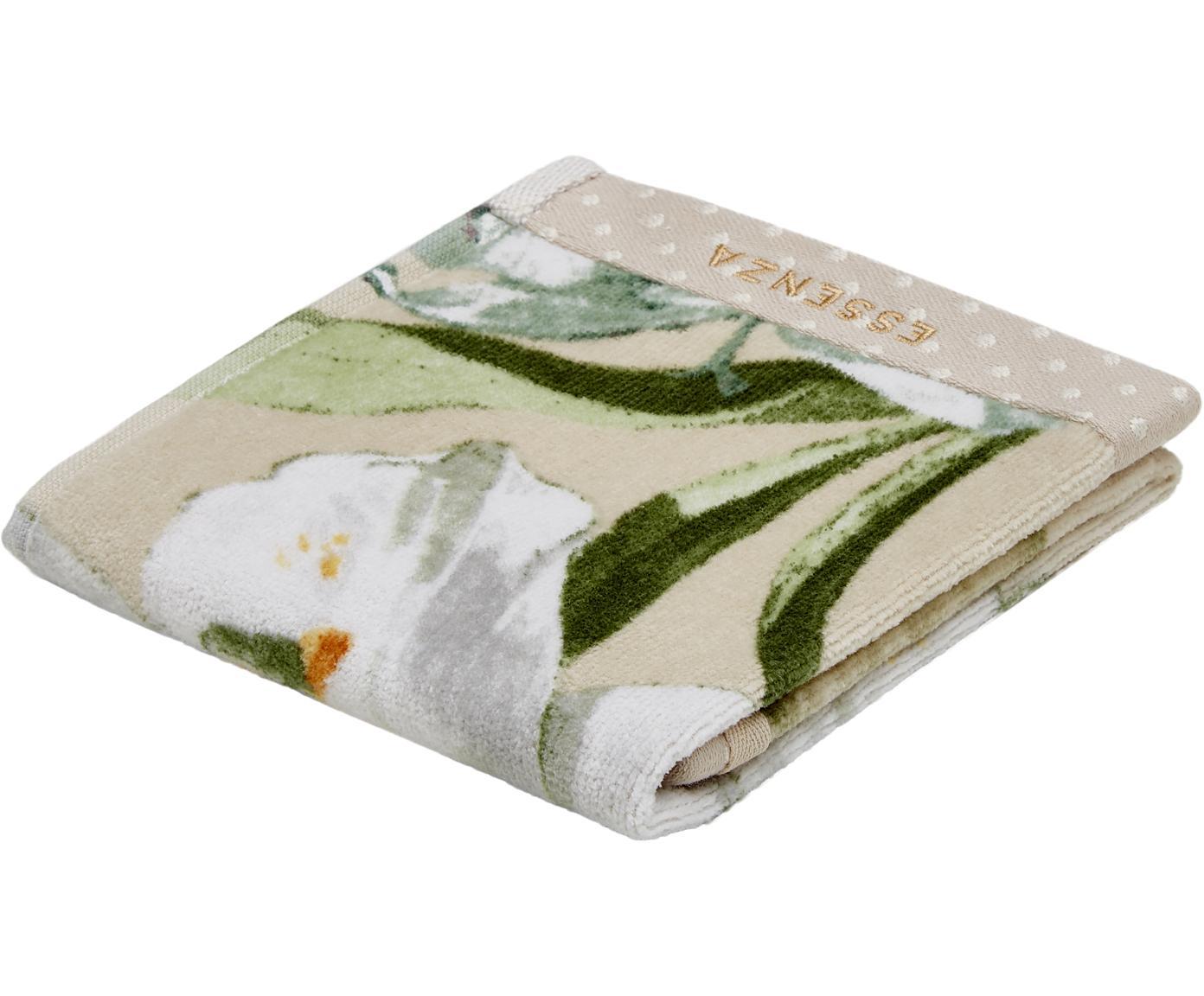 Handtuch Rosalee mit Blumen-Muster, 100% Baumwolle, Beige, Weiß, Grün, Orange, Gästehandtuch