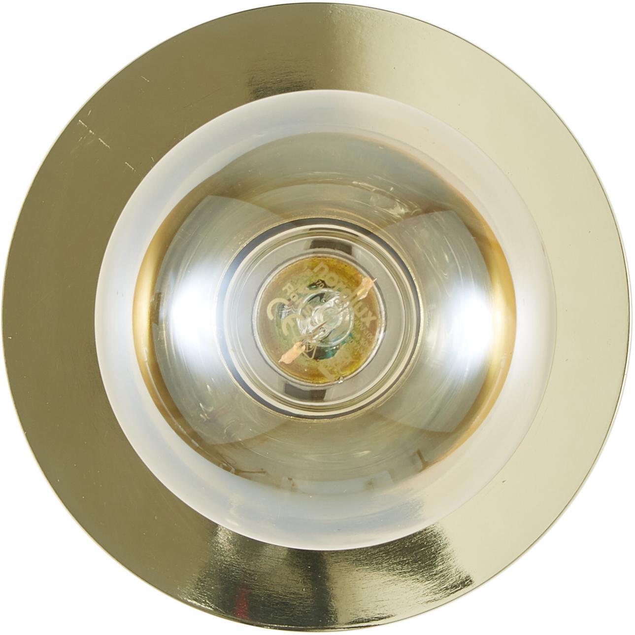 Applique en métal doré Percy, Laiton, brillant