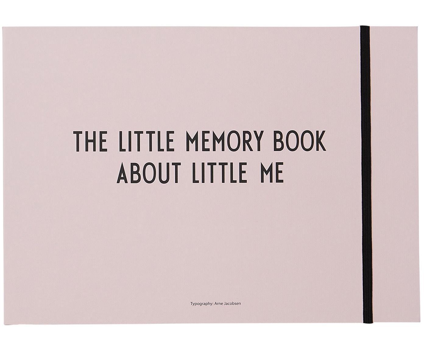 Księga pamiątkowa Little Memory Book, Papier, Blady różowy, S 21 x W 30 cm