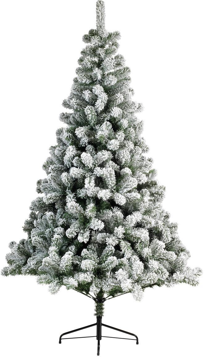 Decoratieve kerstboom North Pole, Voet: gecoat metaal, Groen, wit, Ø 97 cm