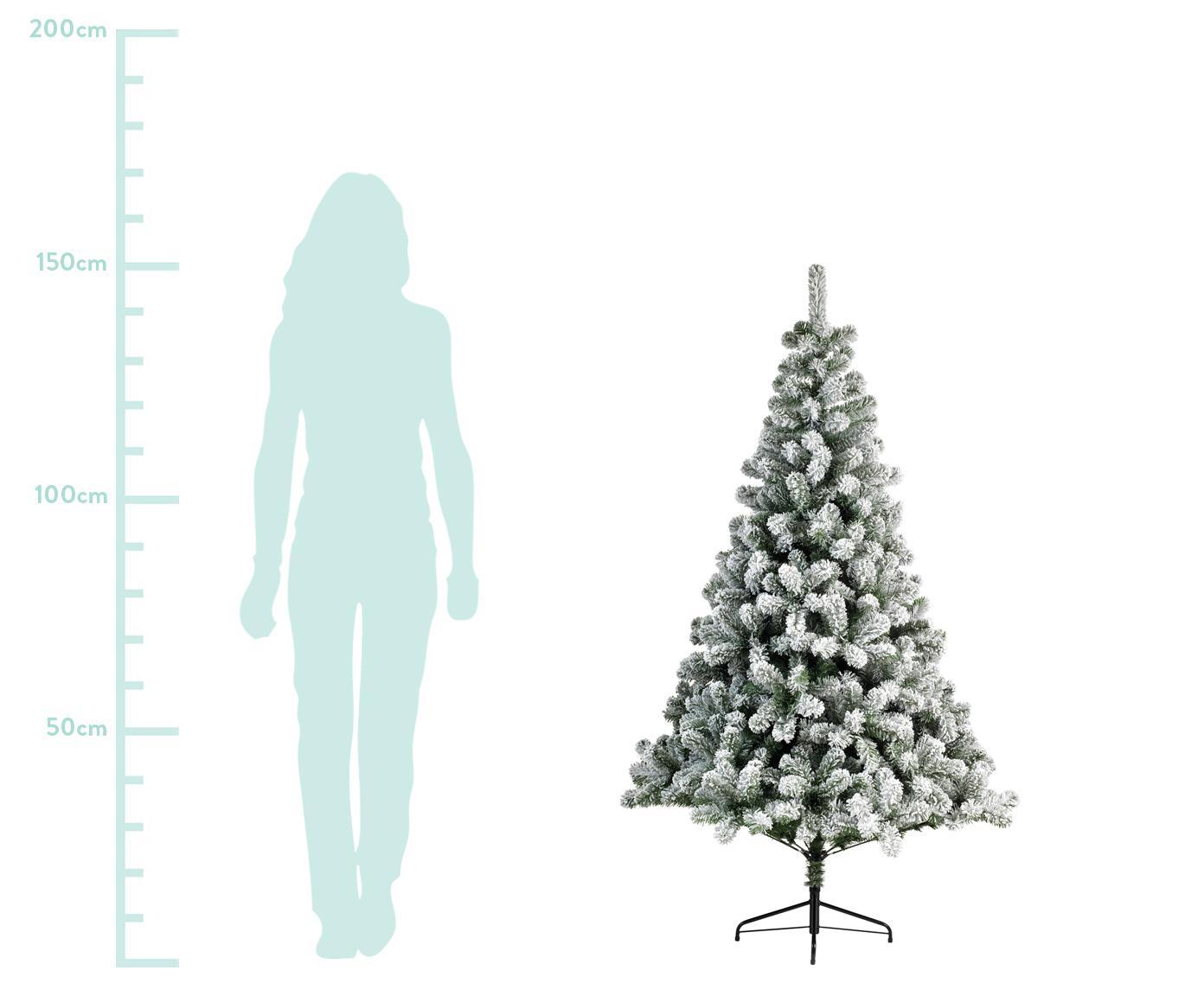 Künstlicher Weihnachtsbaum North Pole, Fuß: Metall, beschichtet, Grün, Weiß, Ø 97 x H 150 cm
