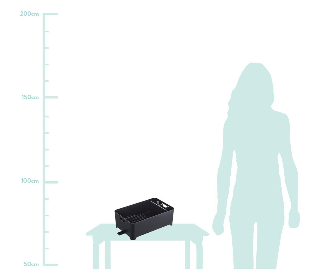 Suszarka do naczyń  Tower, Tworzywo sztuczne (ABS), Czarny, S 38 x W 13 cm