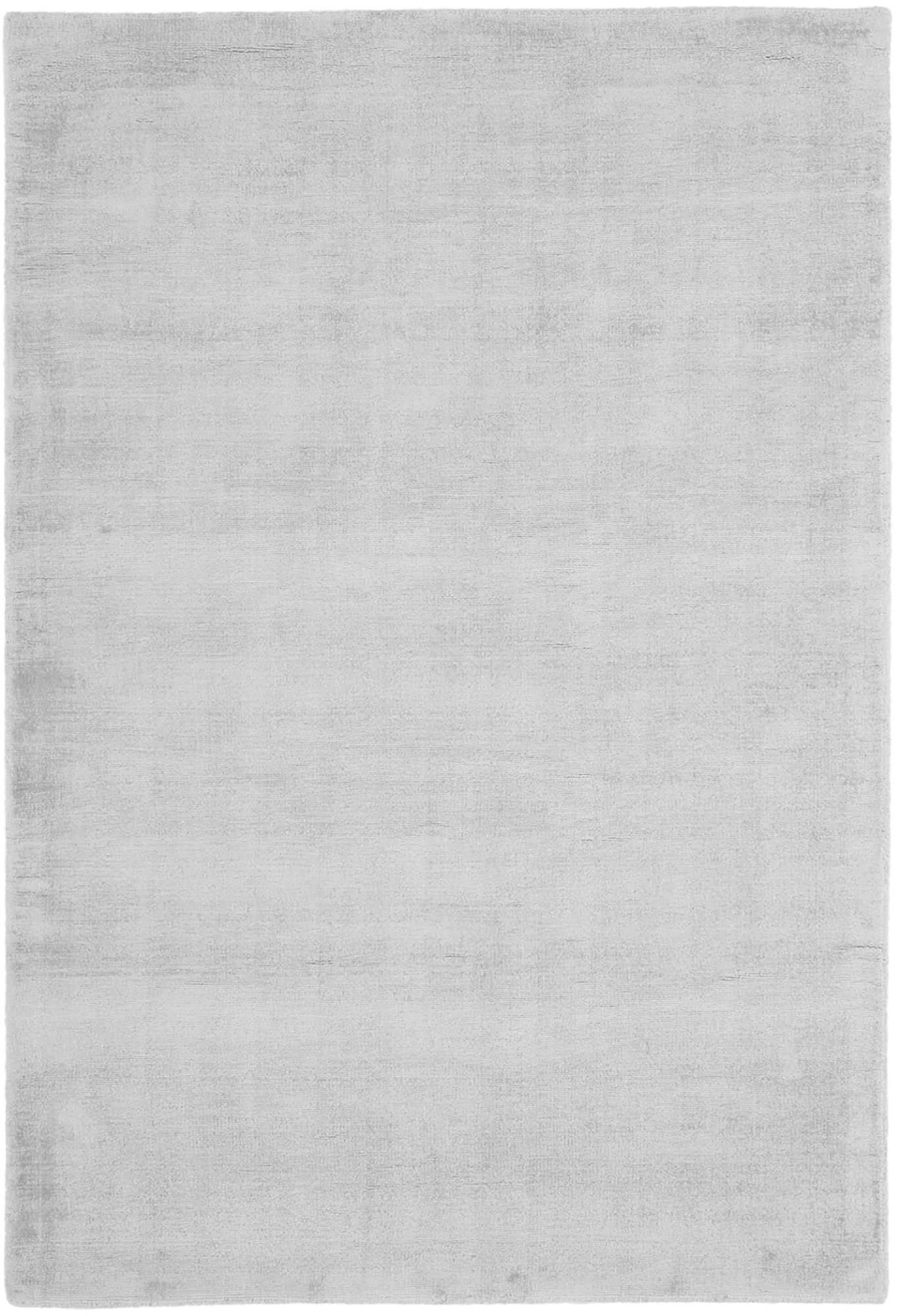 Tappeto in viscosa tessuto a mano Jane, Retro: 100% cotone, Grigio argento, Larg. 300 x Lung. 400 cm (taglia XL)
