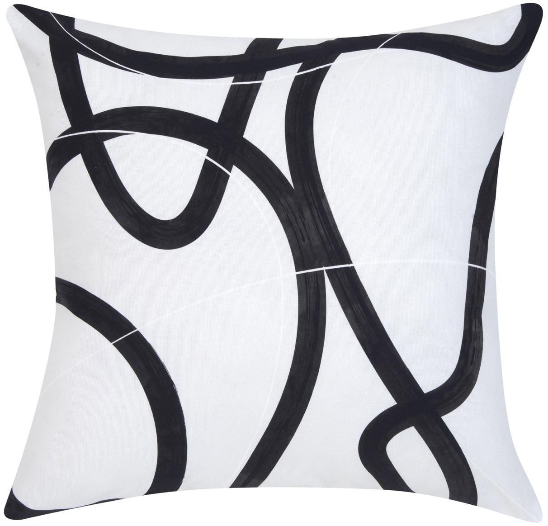 Federa arredo Elijah, Cotone, Beige, nero, bianco, Larg. 40 x Lung. 40 cm