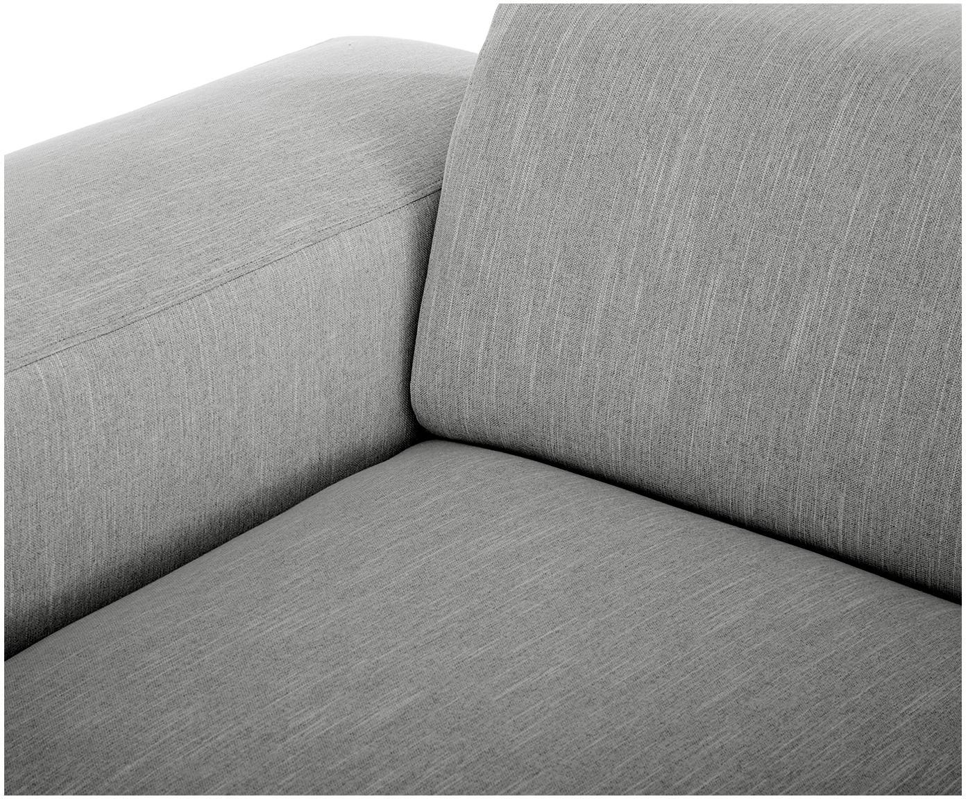 Ecksofa Melva (3-Sitzer), Bezug: Polyester 35.000 Scheuert, Gestell: Massives Kiefernholz, Spa, Webstoff Grau, B 240 x T 144 cm