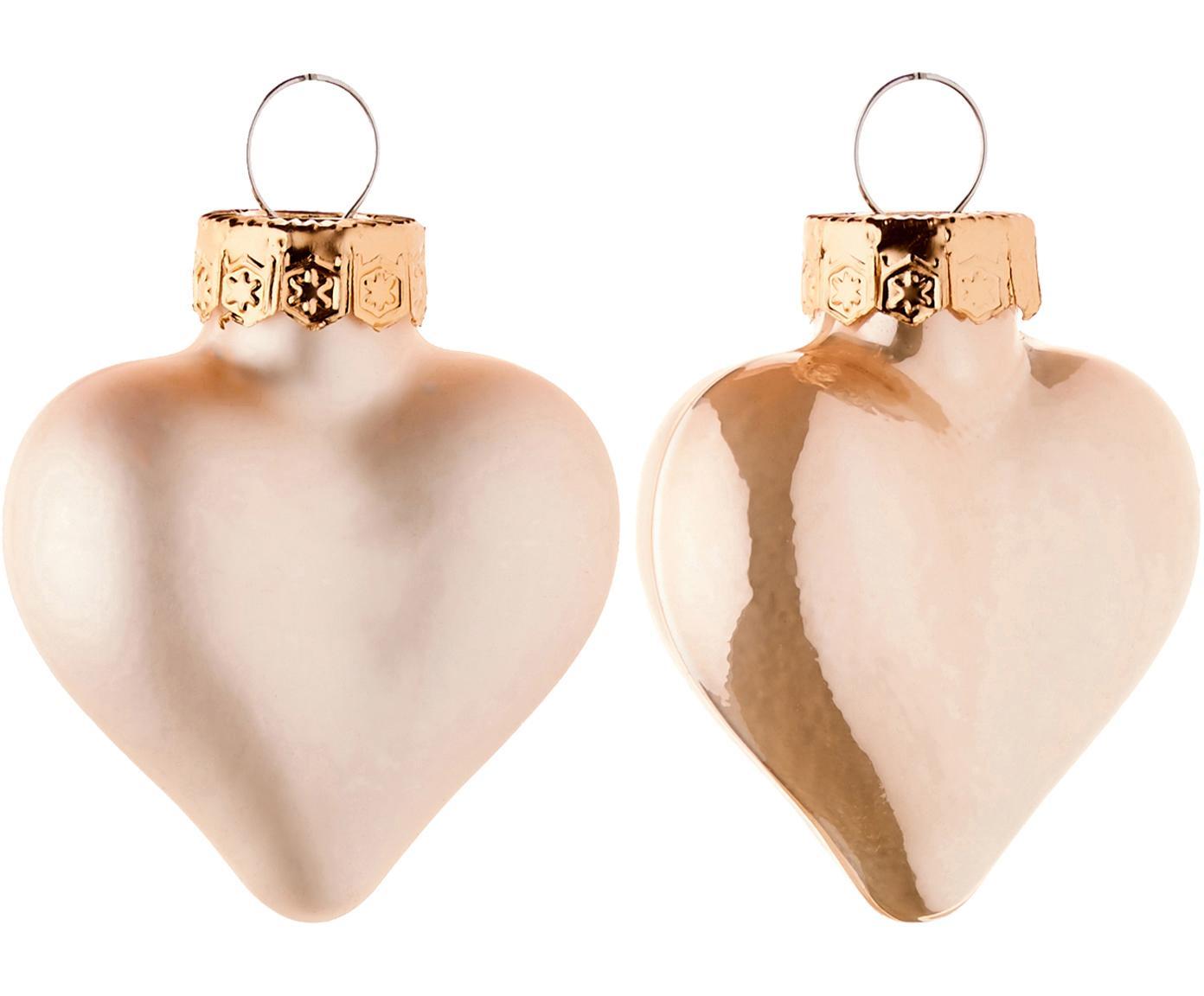 Mini glasharten set Alabaster, 12-delig, Crèmekleurig, 4 x 5 cm