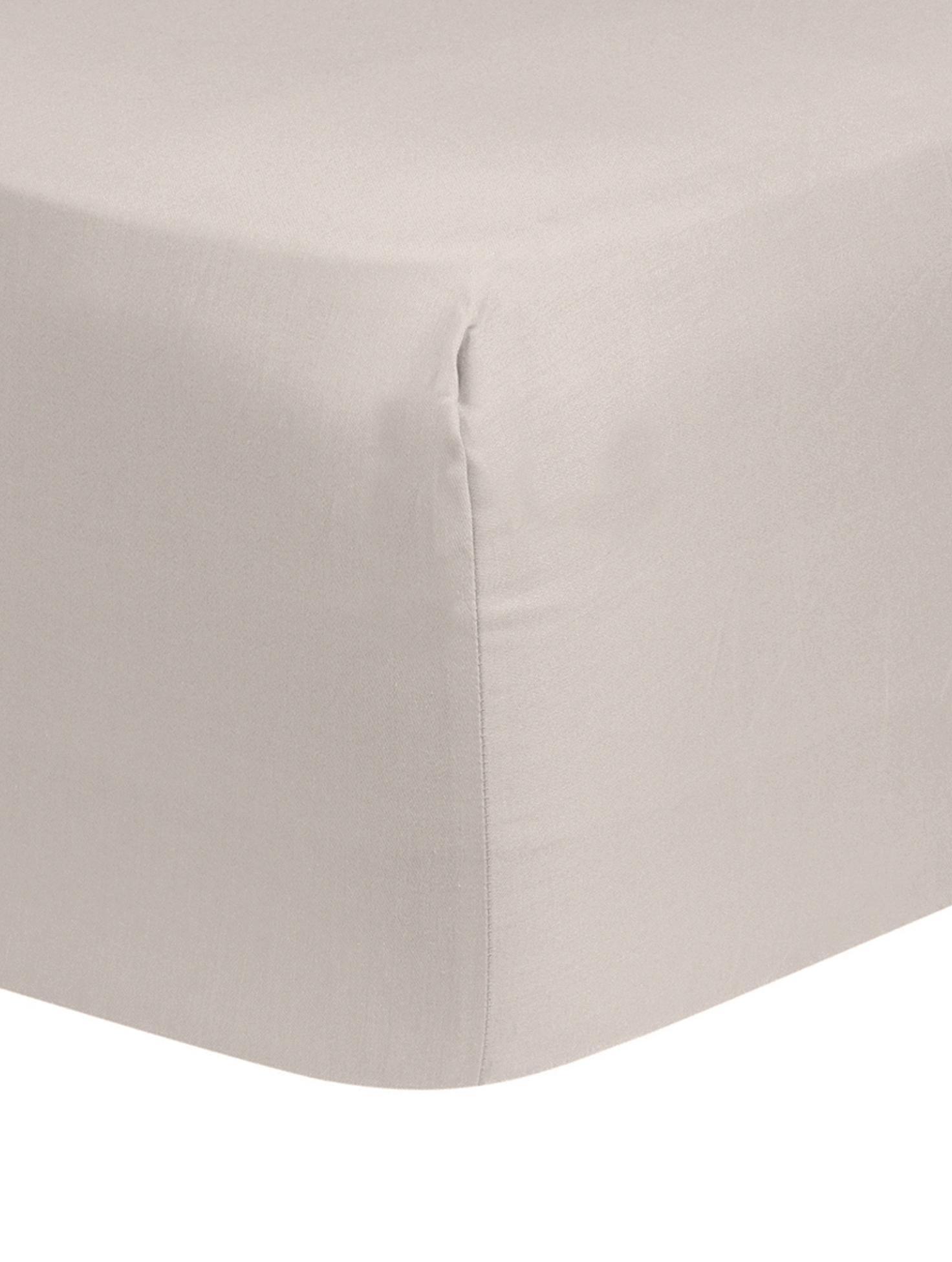 Boxspring-Spannbettlaken Comfort, Baumwollsatin, Webart: Satin, leicht glänzend, Taupe, 200 x 200 cm