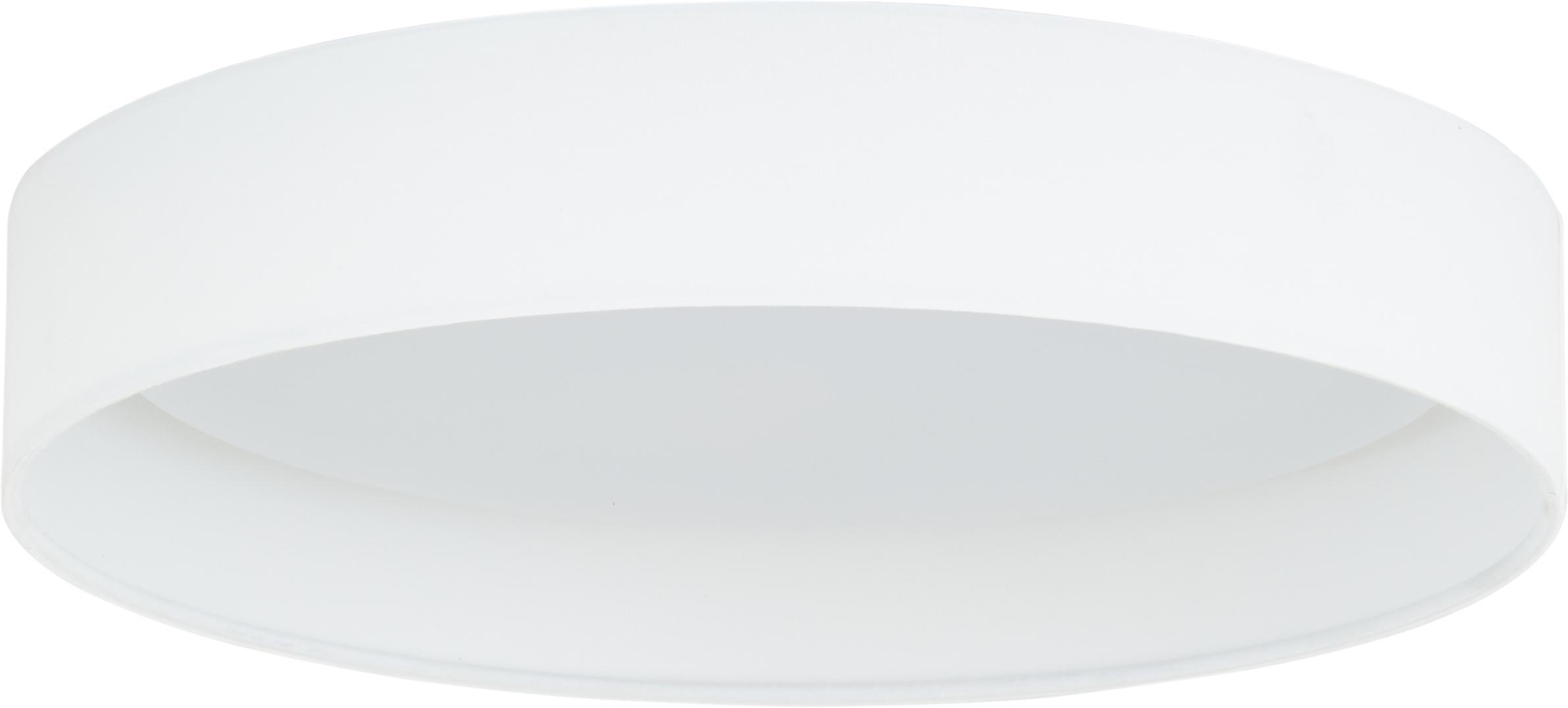 LED plafondlamp Helen, Frame: metaal, Diffuser: kunststof, Wit, Ø 35 x H 7 cm
